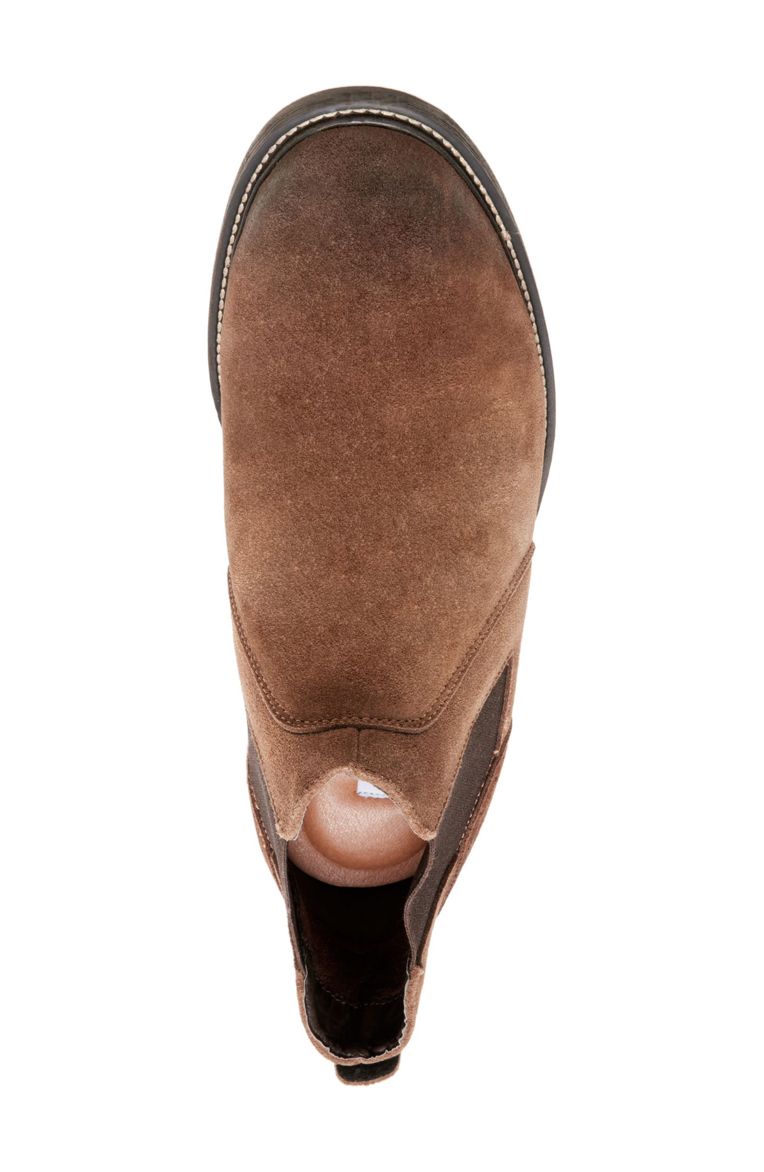 Tampa Chelsea Boot,                             Alternate thumbnail 4, color,                             CAMEL SUEDE