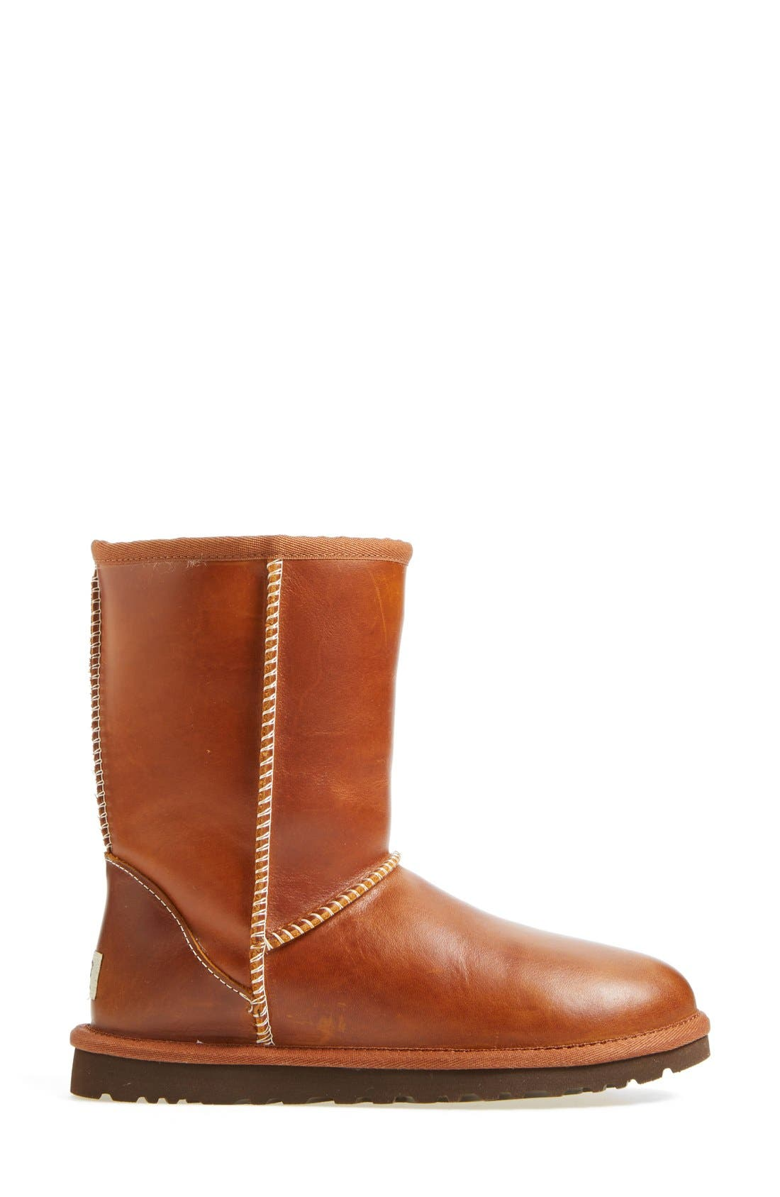 UGG<SUP>®</SUP>,                             Australia 'Classic Short' Leather Water Resistant Boot,                             Alternate thumbnail 2, color,                             219