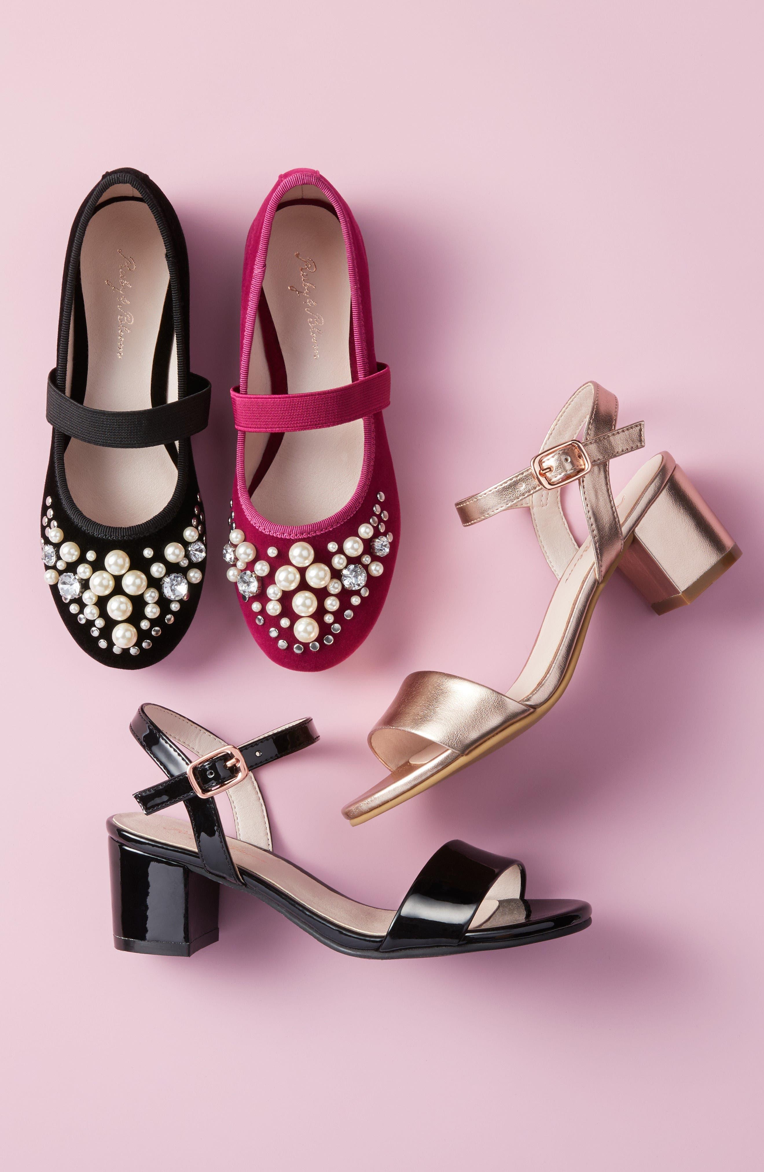 Danni Block Heel Sandal,                             Alternate thumbnail 8, color,                             SILVER GLITTER