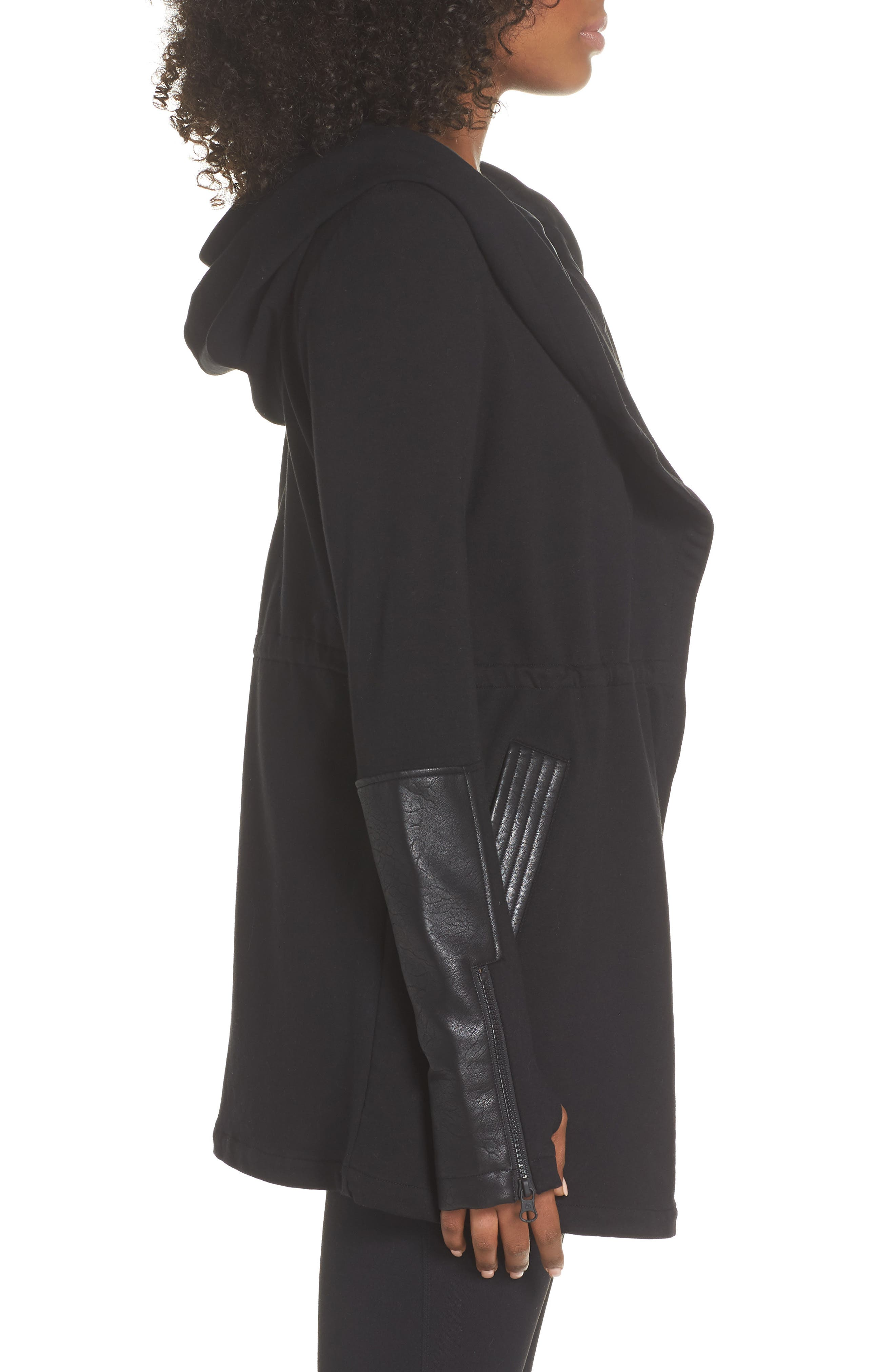 Traveler Wrap Jacket,                             Alternate thumbnail 3, color,                             BLACK/ BLACK