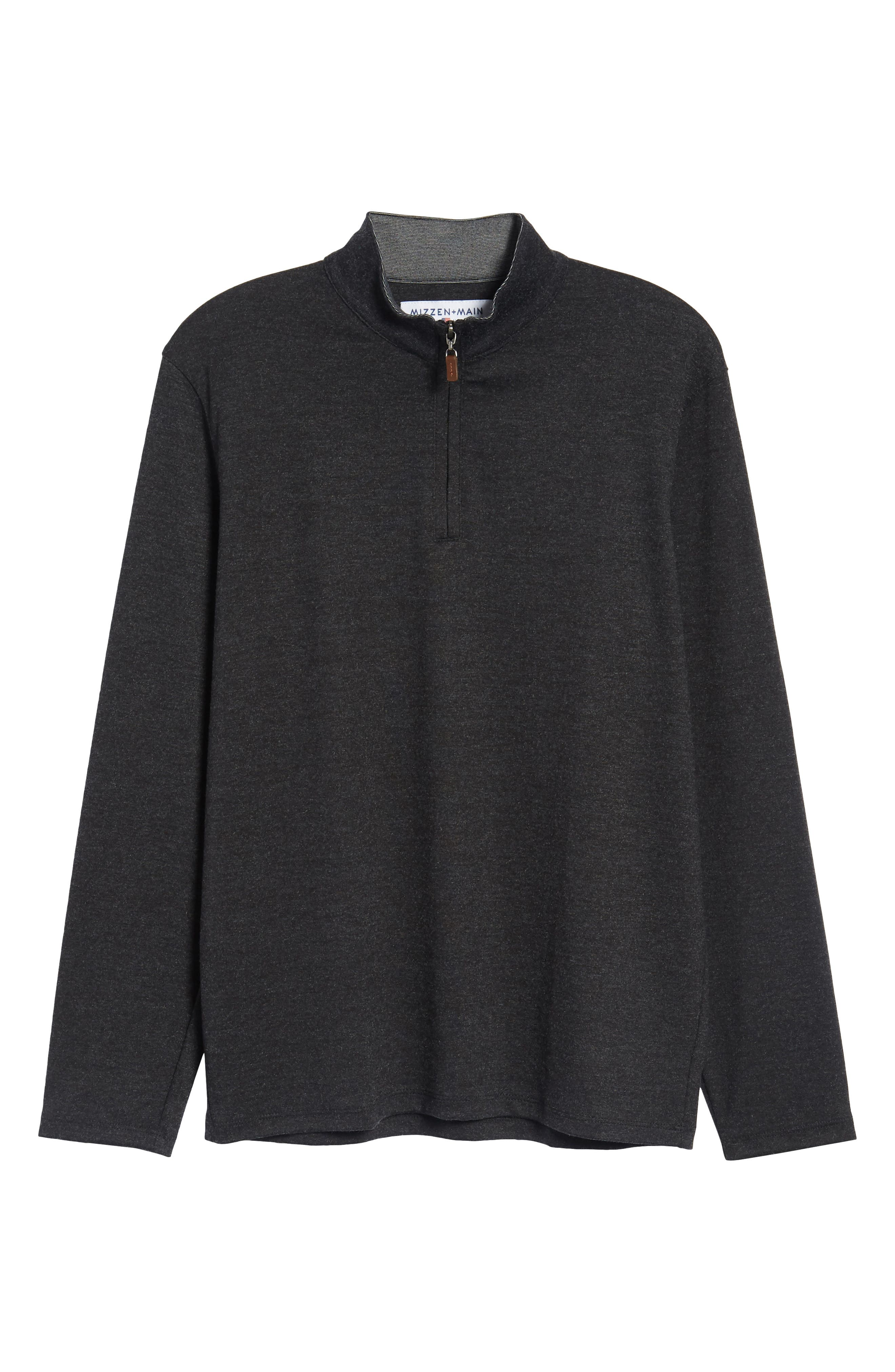North Mock Neck Pullover,                             Alternate thumbnail 6, color,                             NORTH GREY