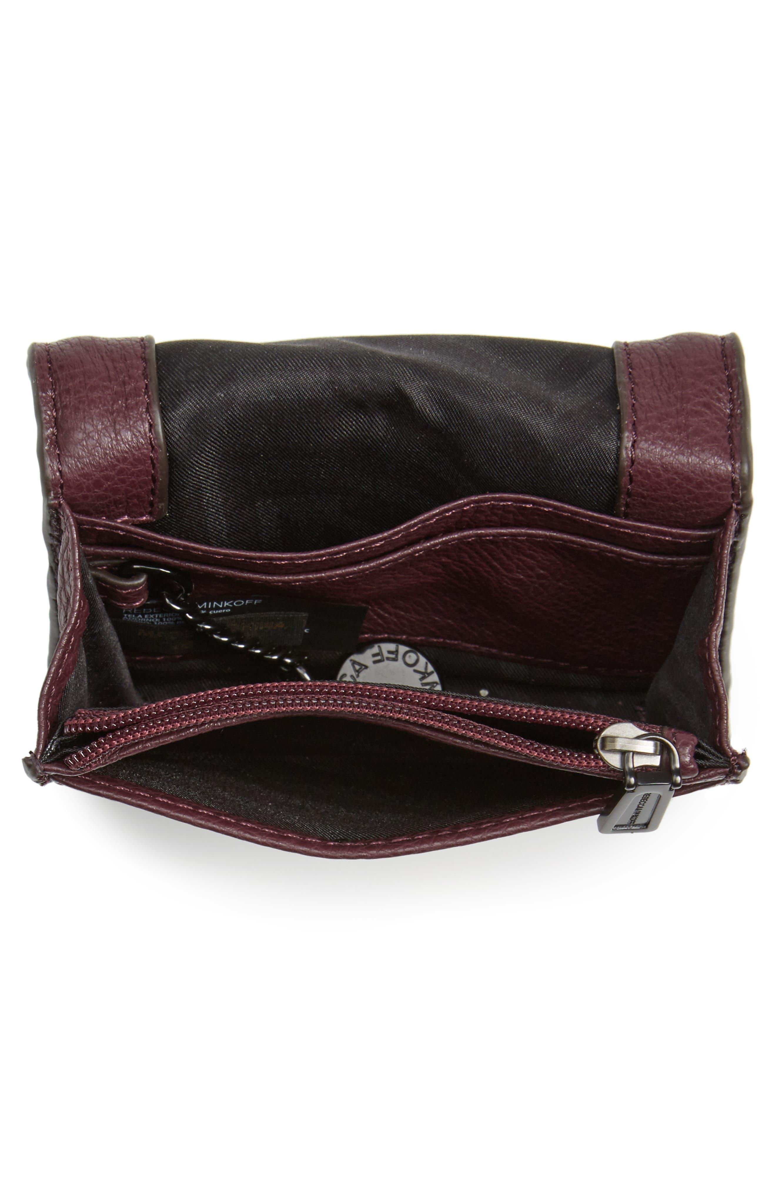 Mini Vanity Leather Wallet,                             Alternate thumbnail 2, color,                             610