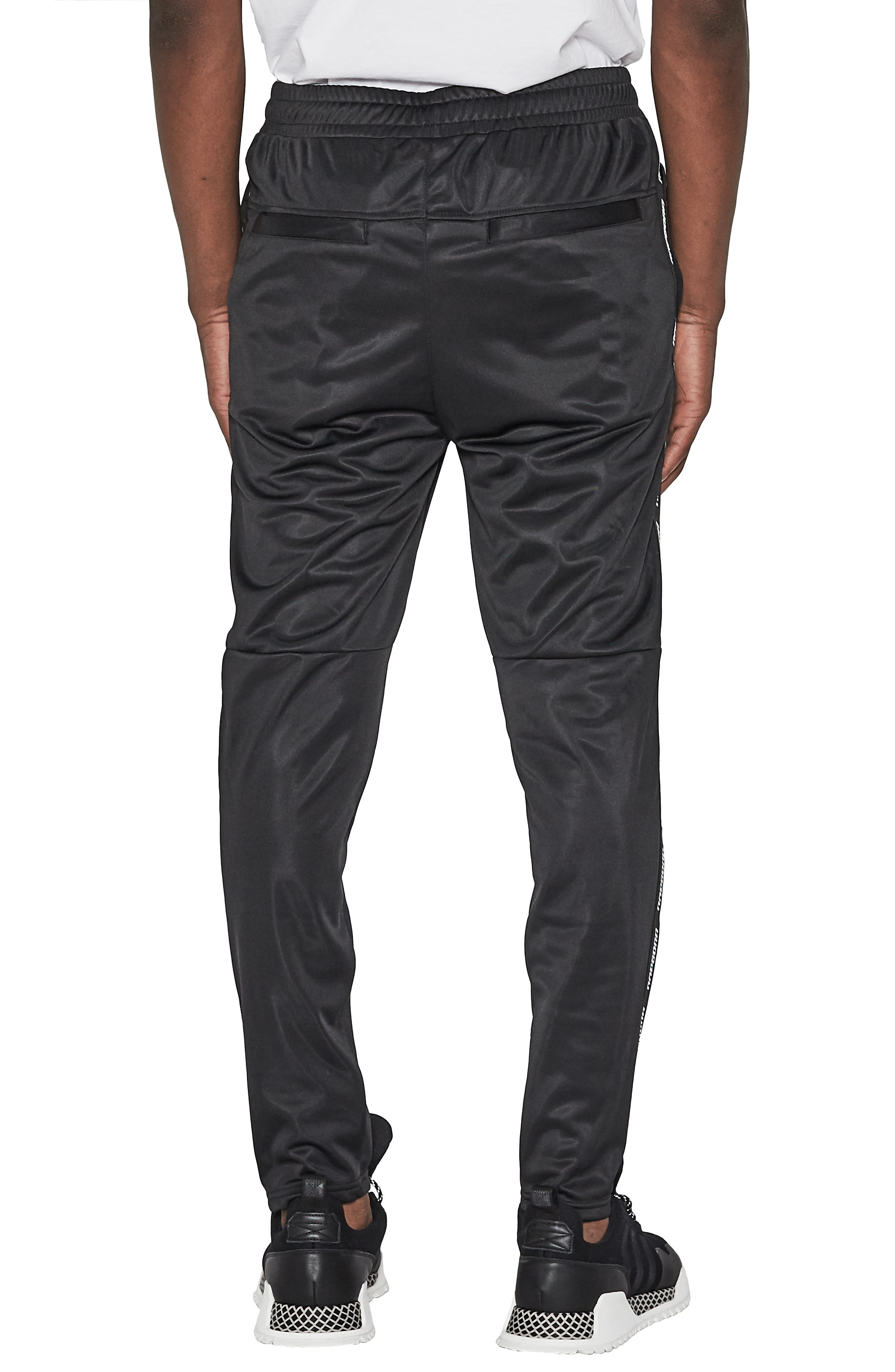 Legacy Slim Fit Track Pants,                             Alternate thumbnail 2, color,                             JET BLACK
