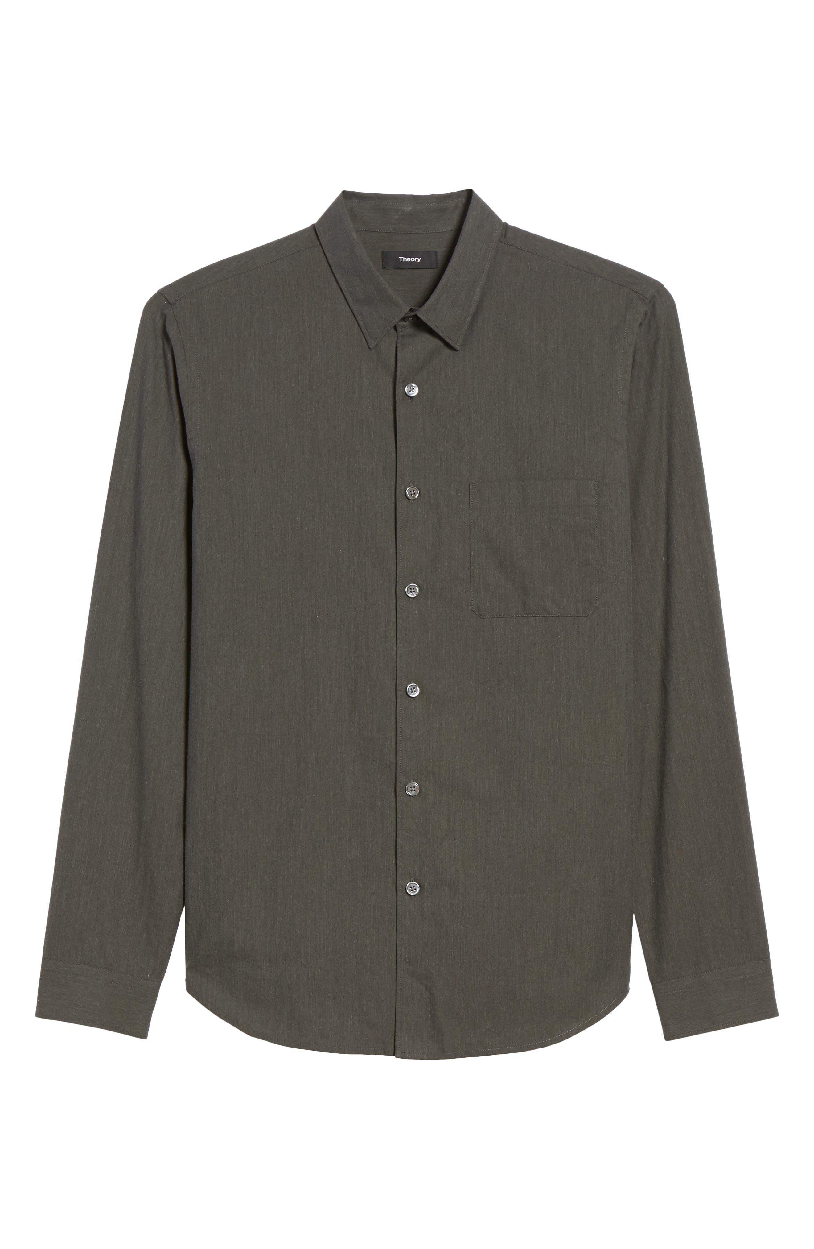 Rammy Trim Fit Solid Sport Shirt,                             Alternate thumbnail 6, color,                             381