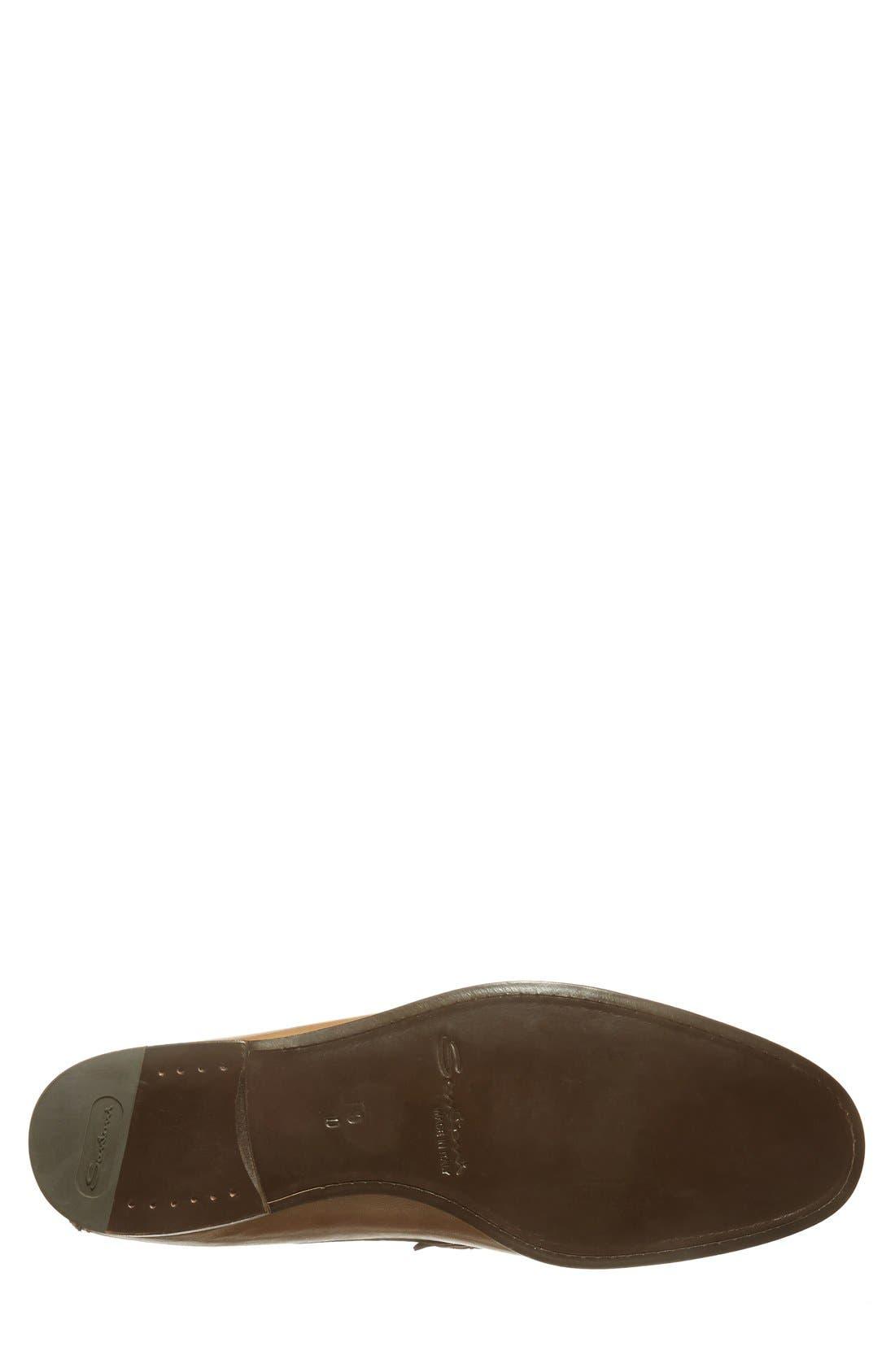 SANTONI,                             'Turner' Leather Penny Loafer,                             Alternate thumbnail 4, color,                             270