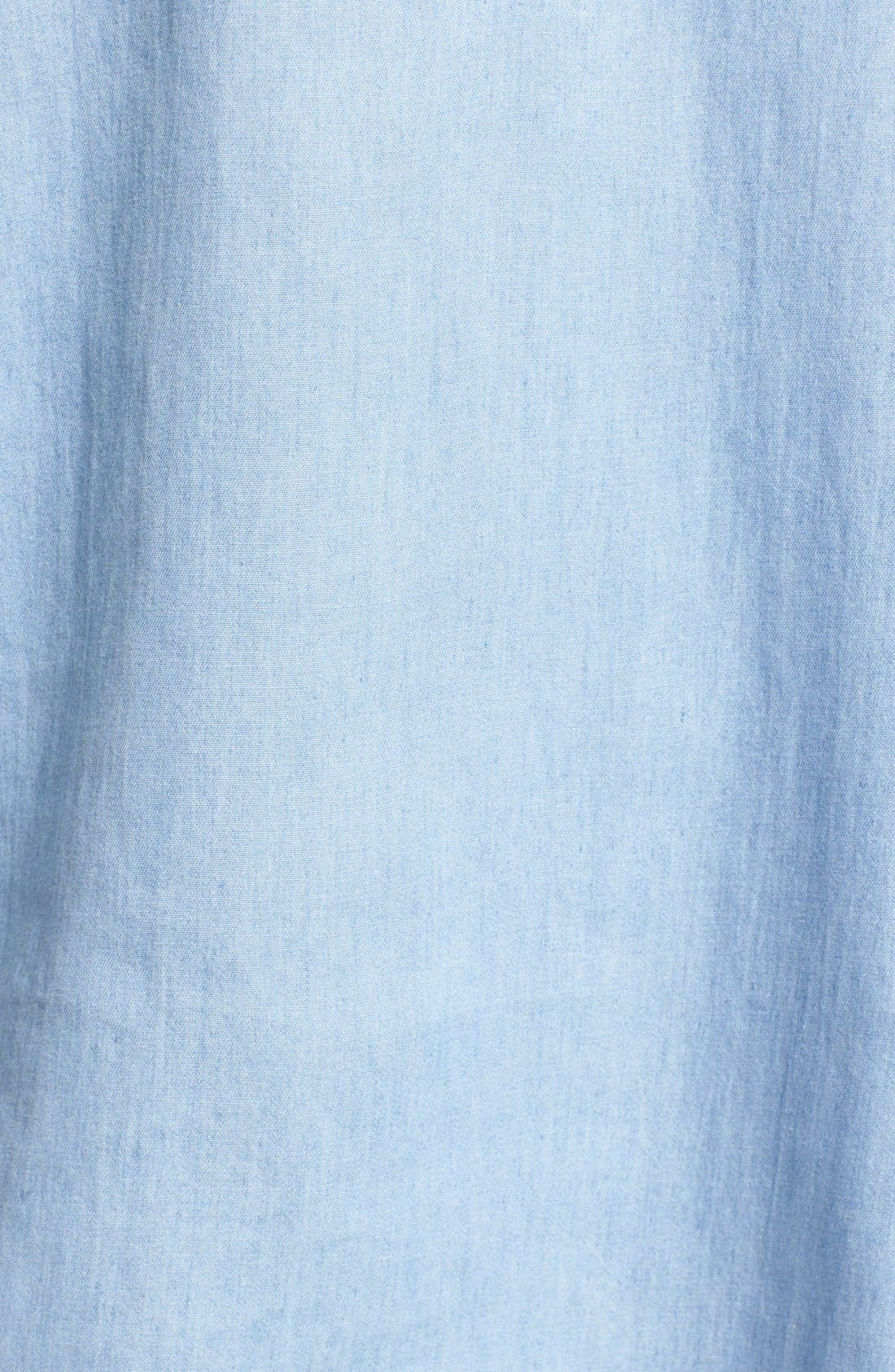 SOCIALITE,                             Cotton Chambray Shirtdress,                             Alternate thumbnail 5, color,                             439