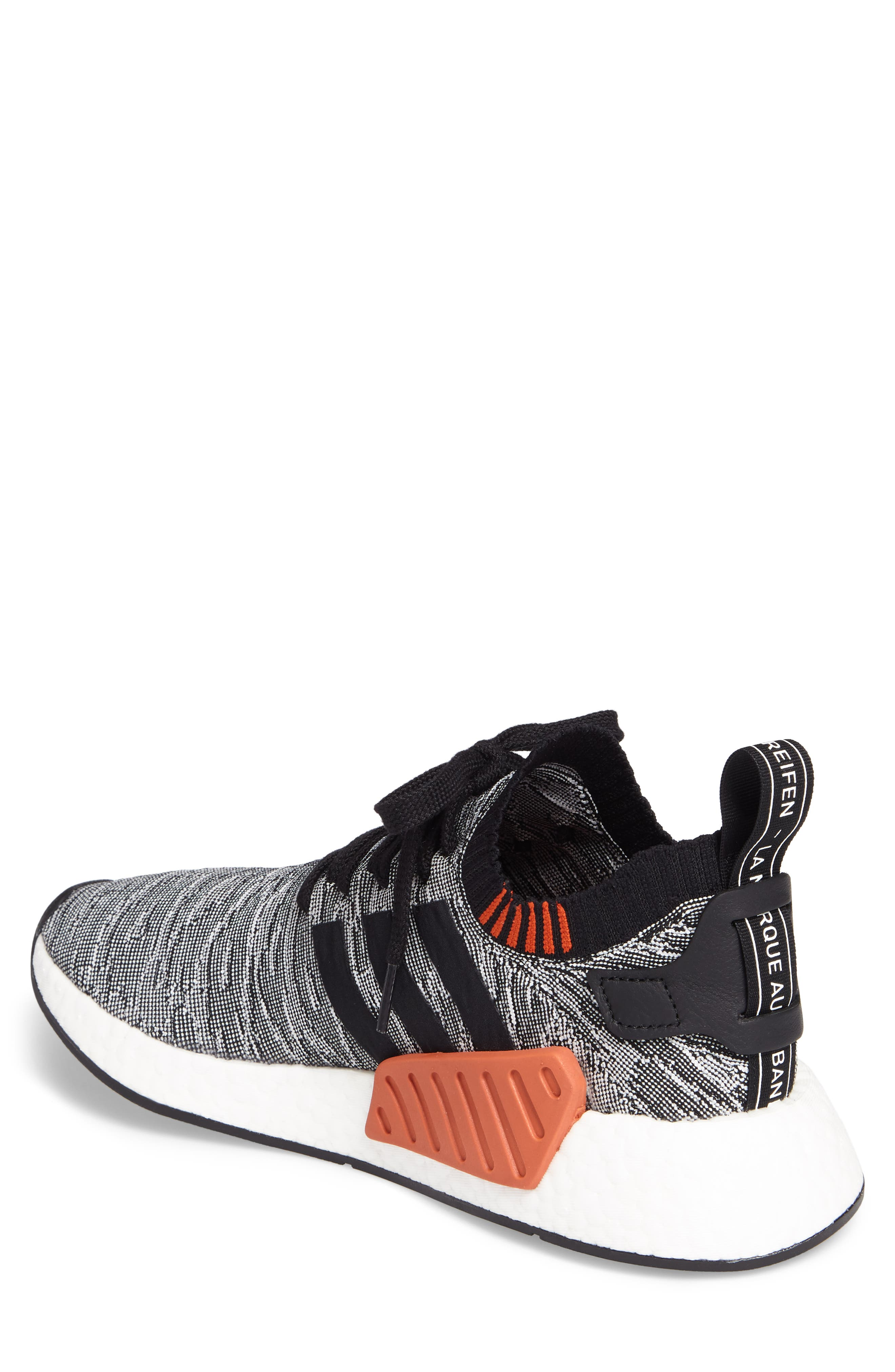 NMD R2 Primeknit Running Shoe,                             Alternate thumbnail 2, color,                             002