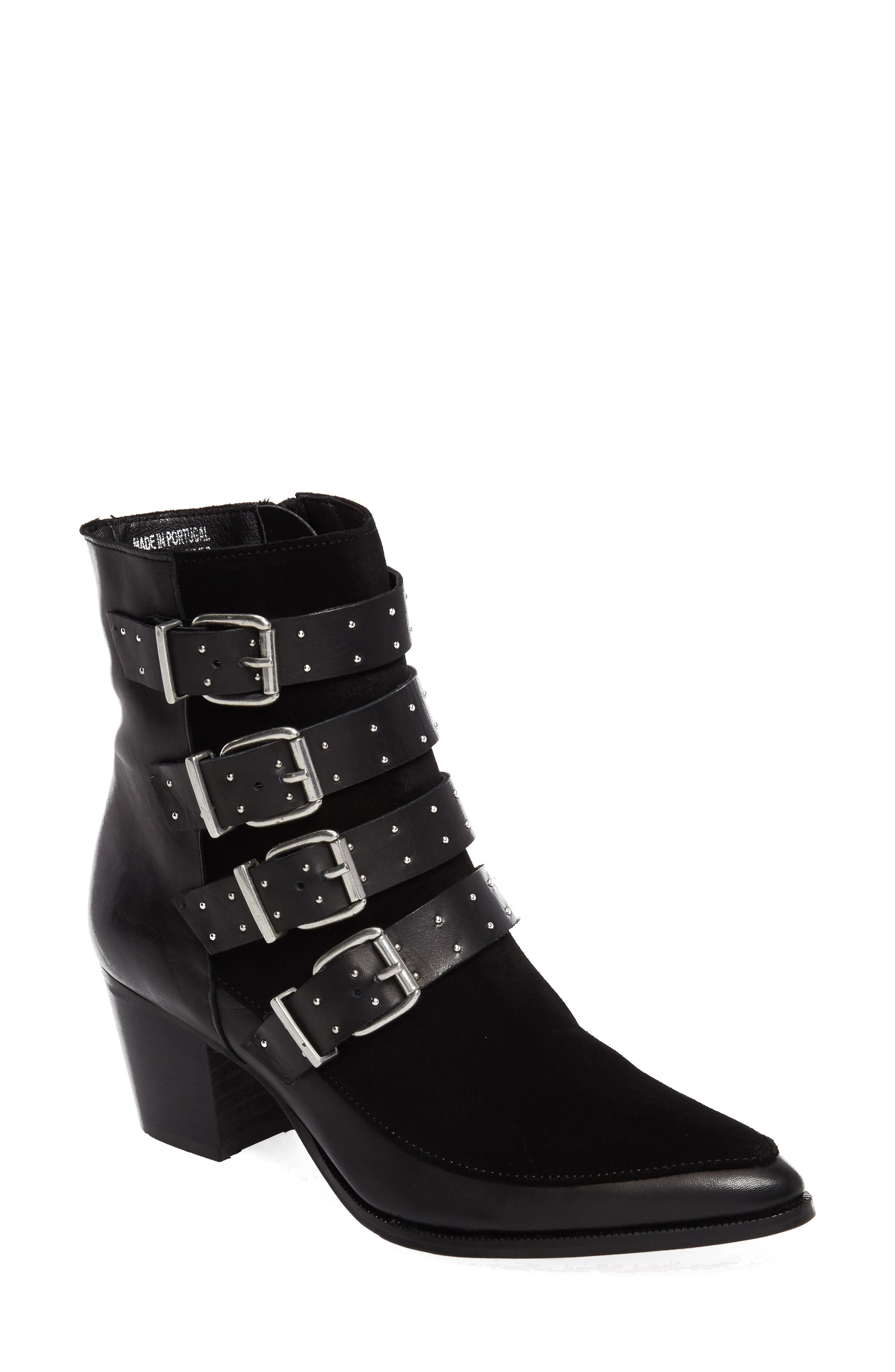 Merlin Buckle Bootie,                             Main thumbnail 1, color,                             001
