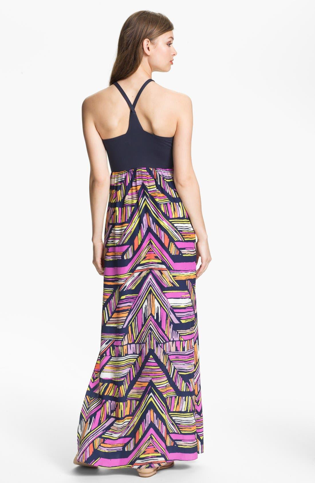 'Nia' Print Cutaway Maxi Dress,                             Alternate thumbnail 2, color,                             410