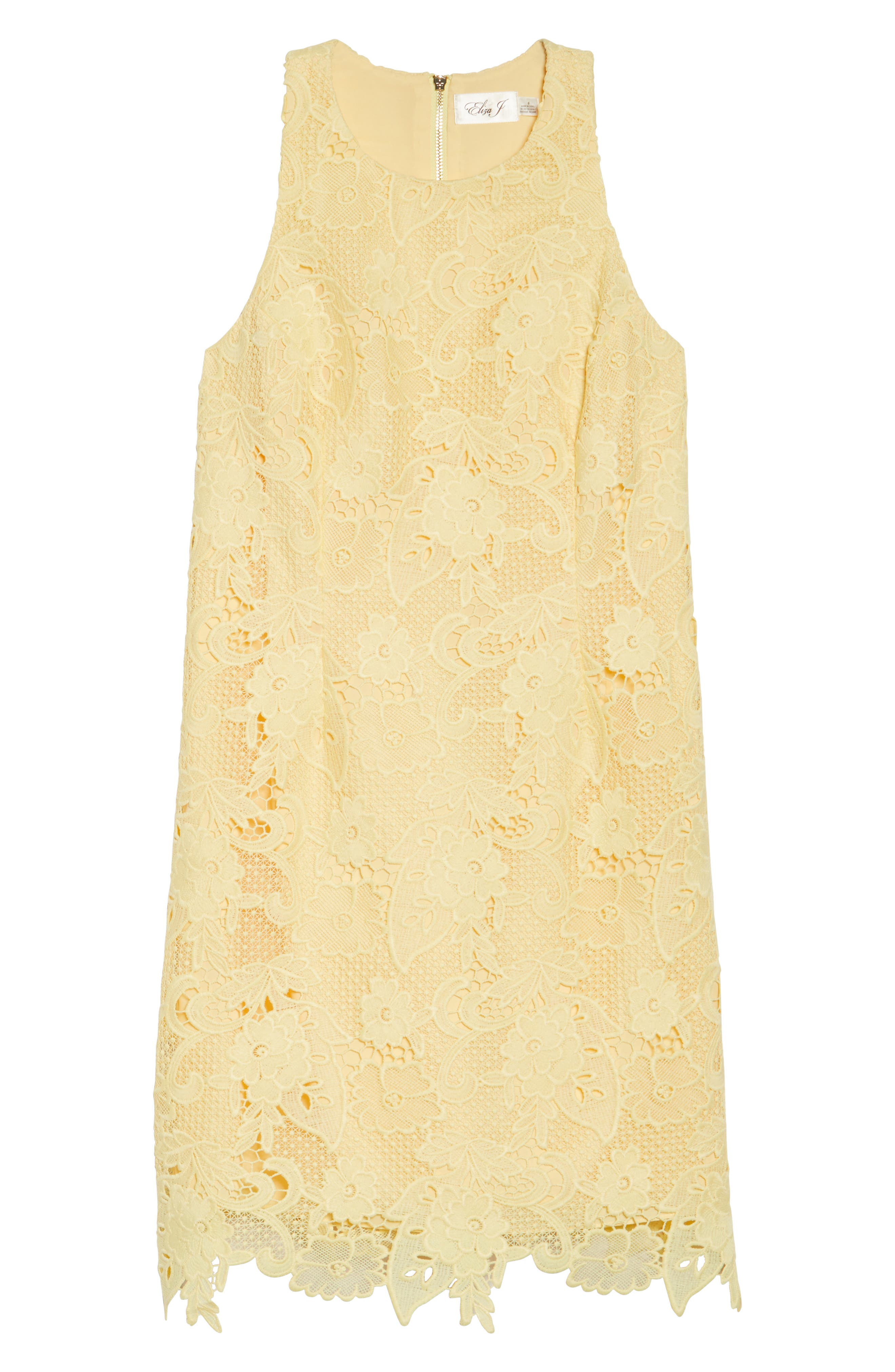 Lace Sheath Dress,                             Alternate thumbnail 6, color,                             720