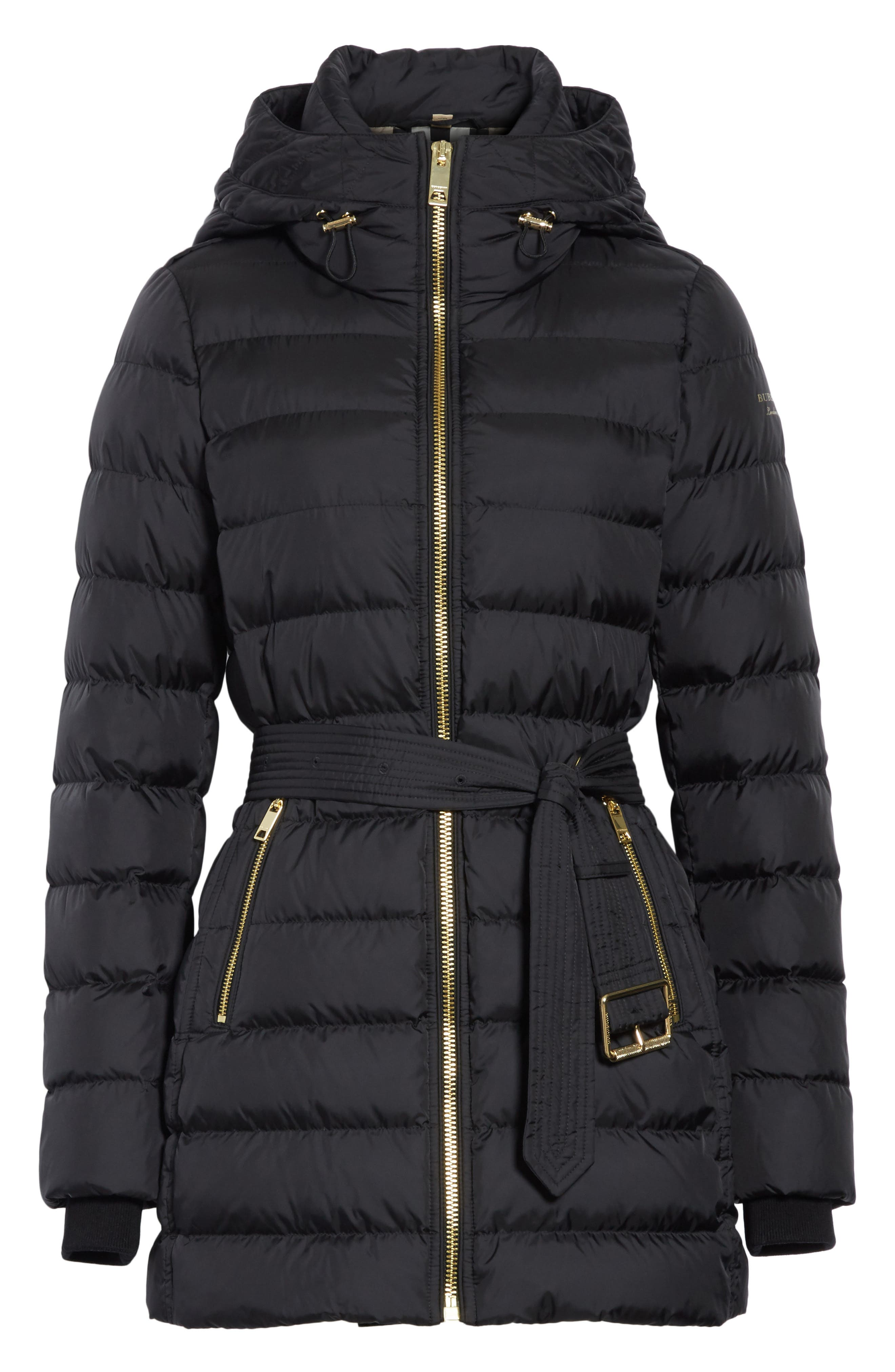 Limefield Hooded Puffer Coat,                             Alternate thumbnail 5, color,                             001