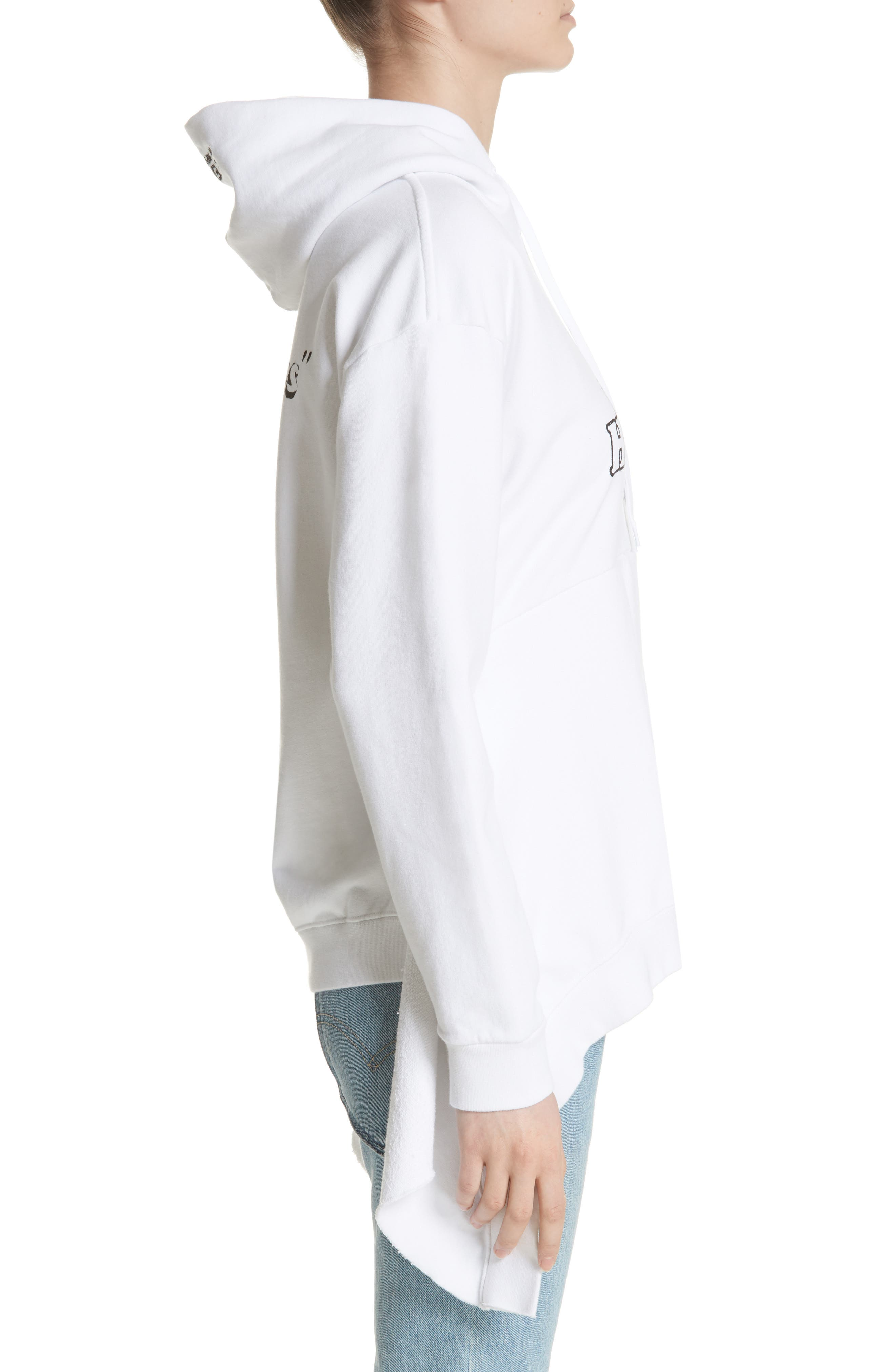 Hometown Asymmetric Hem Hoodie,                             Alternate thumbnail 3, color,                             100