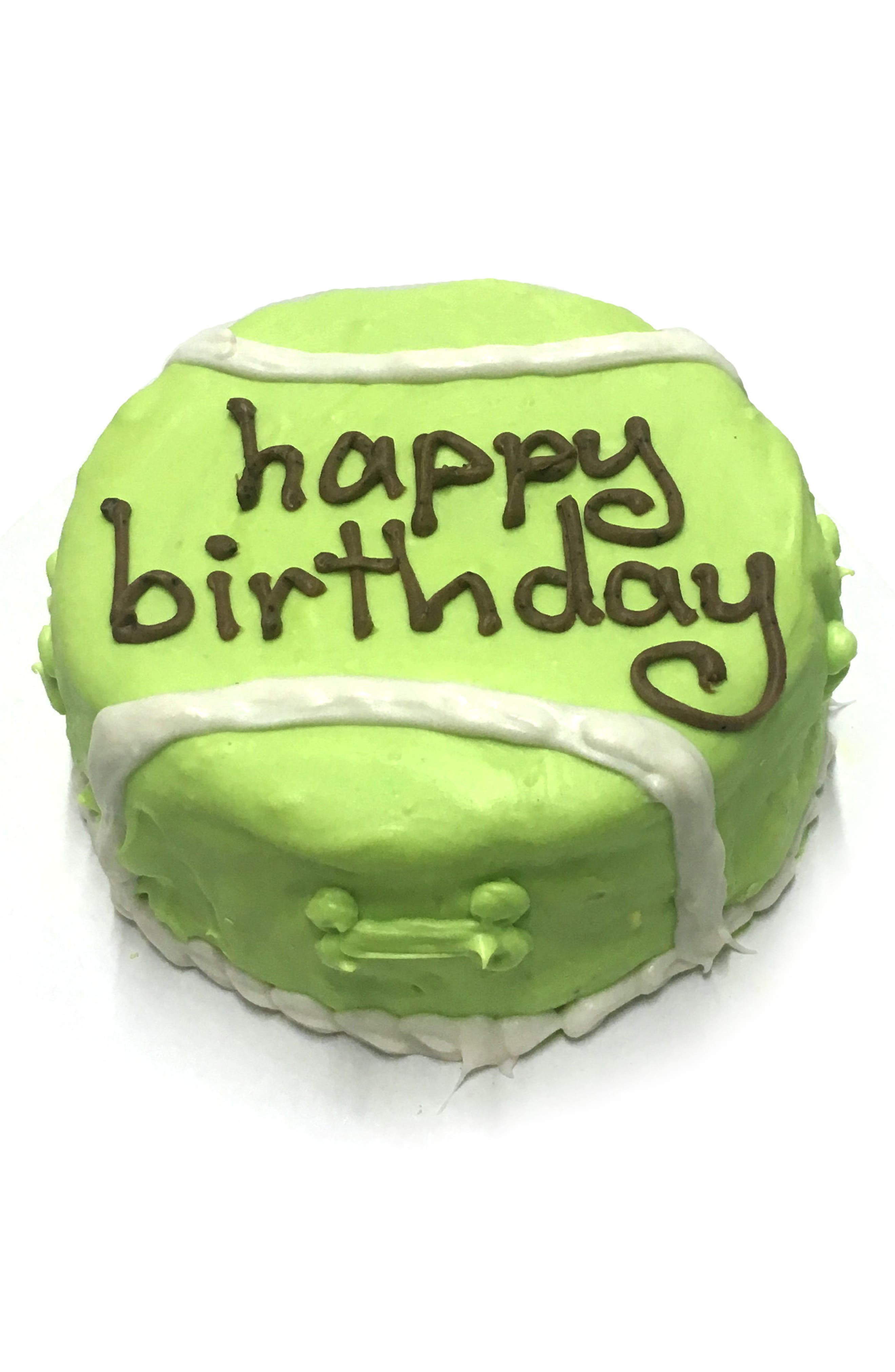 Bubba Rose Biscuit Company Tennis Ball Birthday Cake Dog Treat,                             Main thumbnail 1, color,