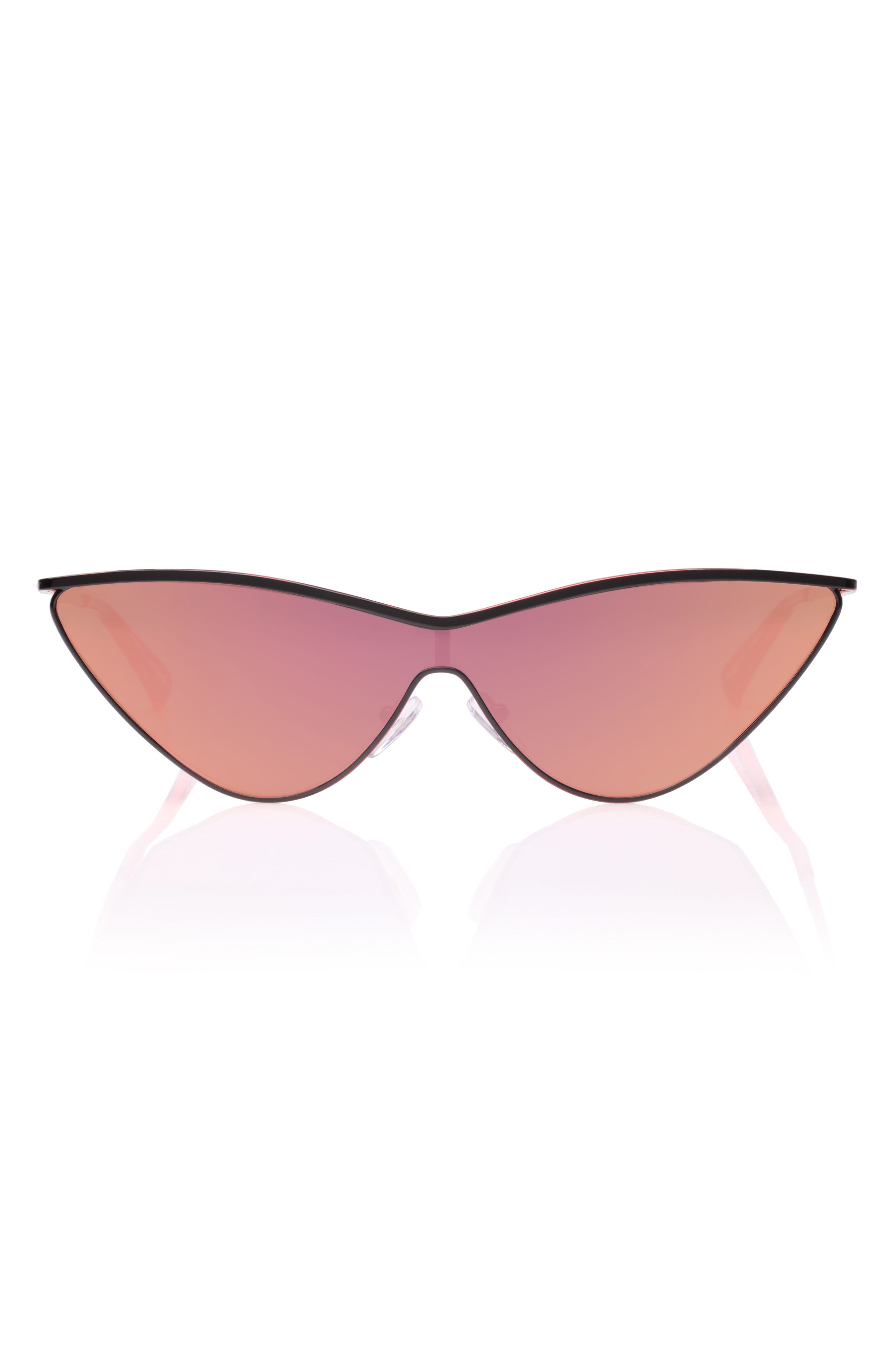 The Fugitive 71mm Sunglasses,                             Alternate thumbnail 2, color,                             BLACK/ RED