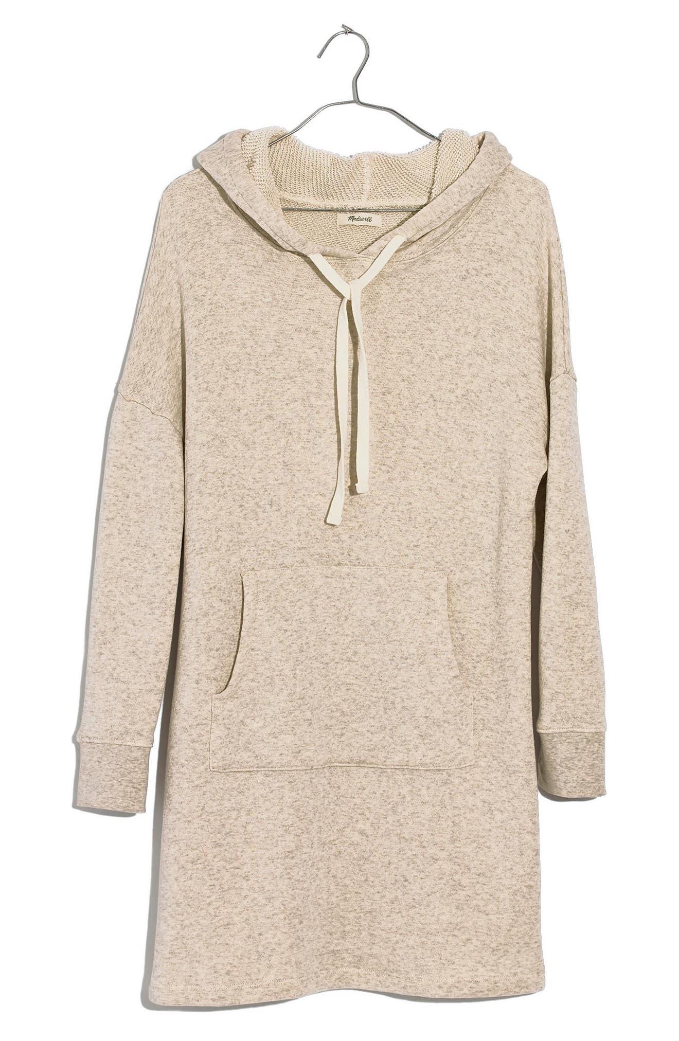 Hooded Sweatshirt Dress,                             Alternate thumbnail 4, color,                             020