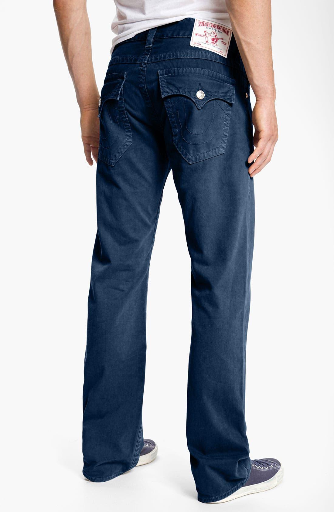 'Ricky' Straight Leg Cotton Twill Pants,                             Main thumbnail 5, color,