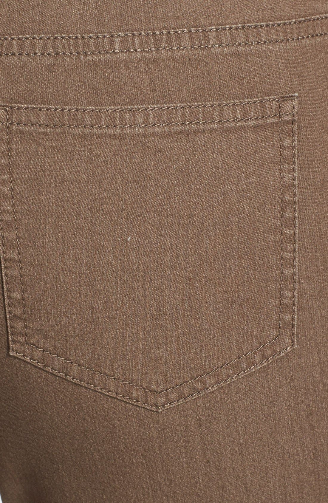 'Primo Denim' Curvy Fit Slim Leg Jeans,                             Alternate thumbnail 8, color,                             TUMBLEWEED
