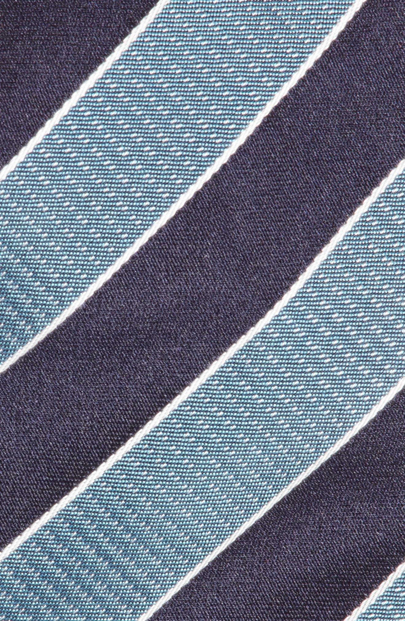 Stripe Silk Tie,                             Alternate thumbnail 3, color,