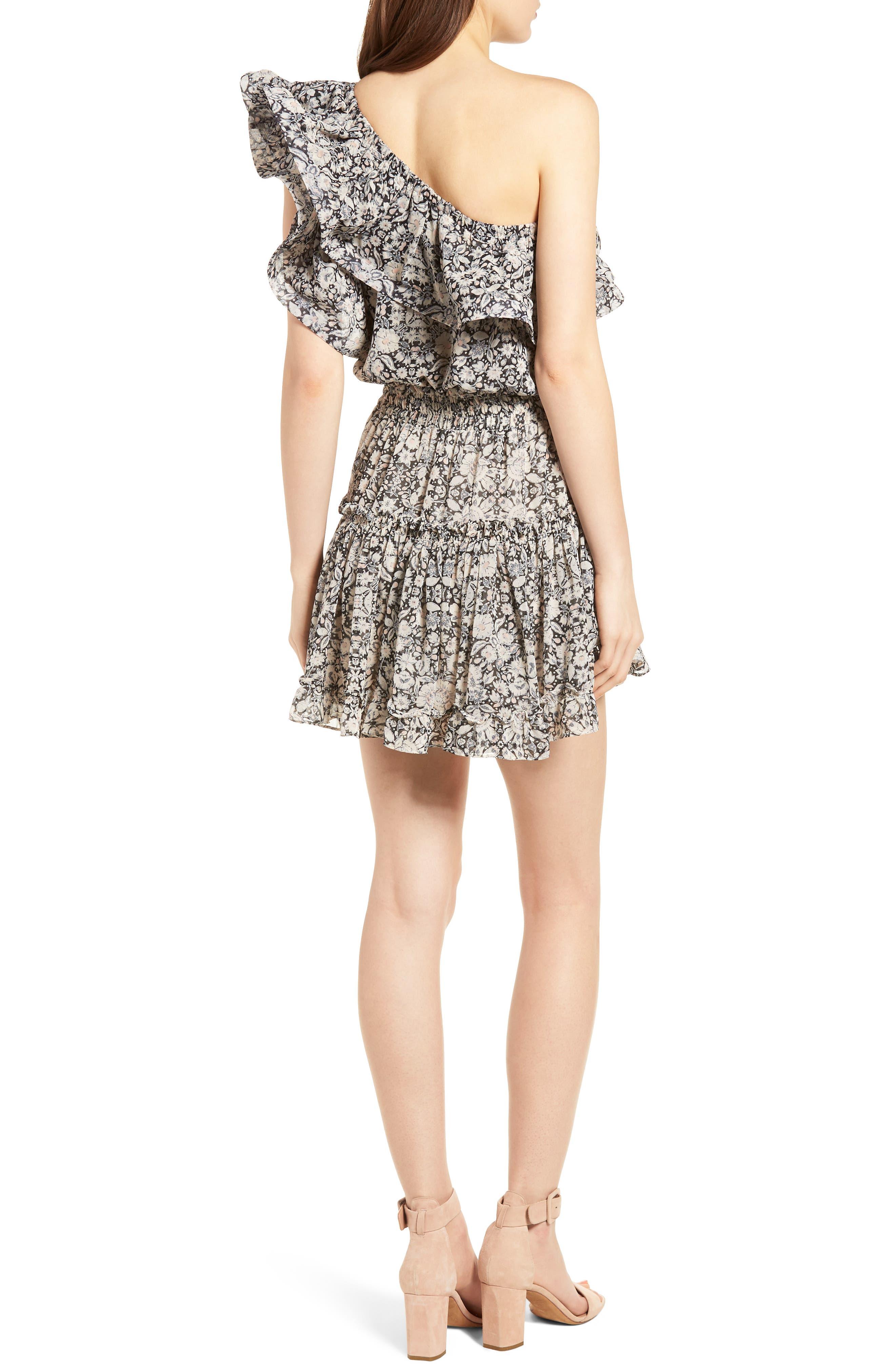 Josefine Ruffle One-Shoulder Dress,                             Alternate thumbnail 2, color,                             MULTI FE8
