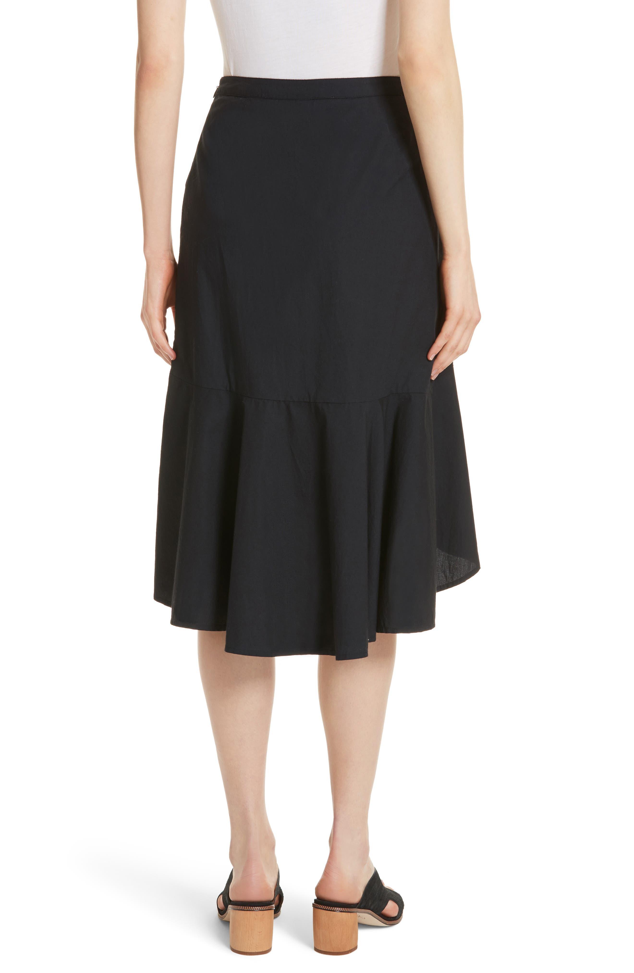 Chesmu Ruffled Cotton Skirt,                             Alternate thumbnail 2, color,                             001