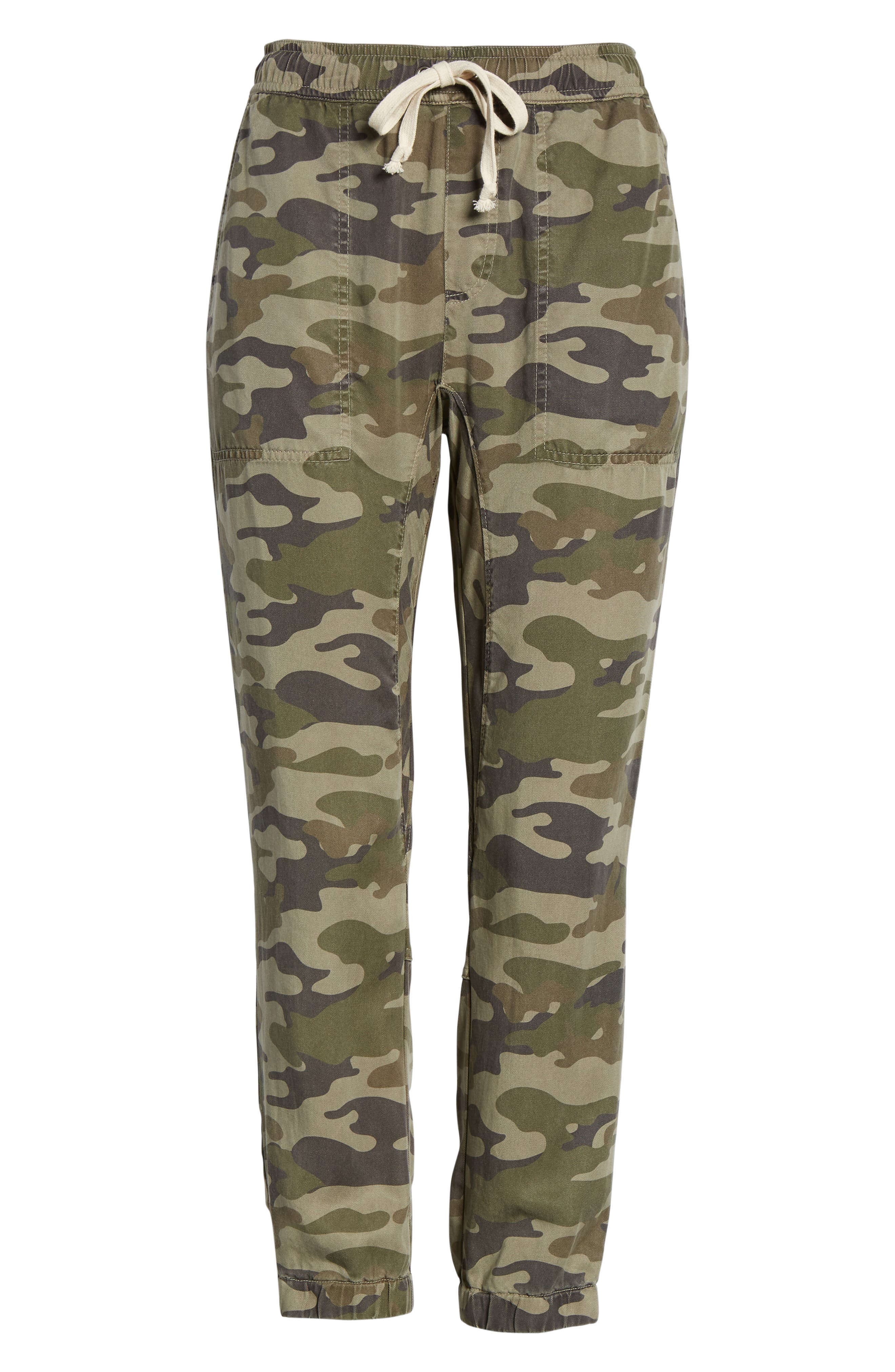 Clay Camo Lace-Up Pants,                             Alternate thumbnail 7, color,                             CLAY CAMO