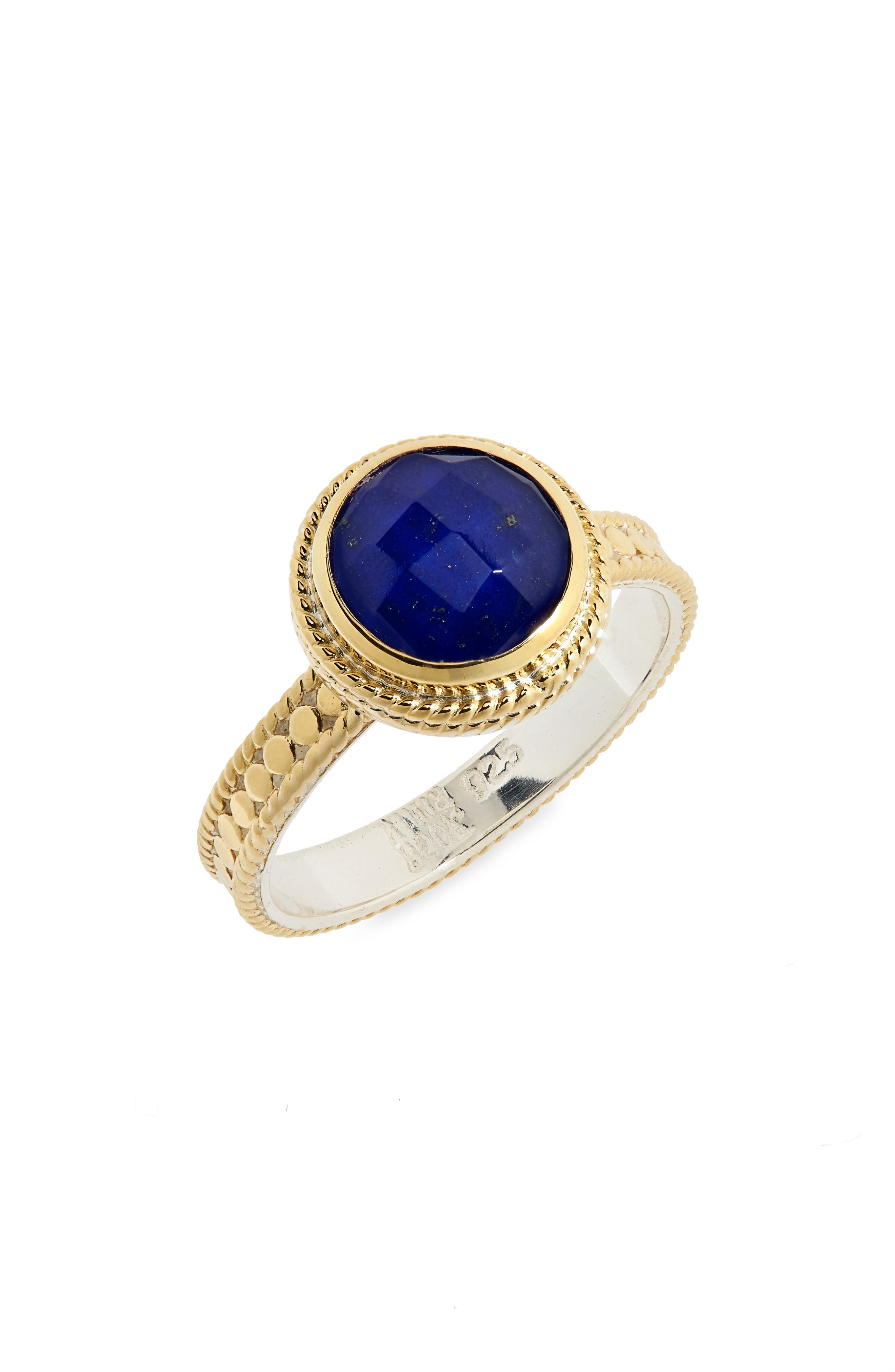Semiprecious Stone Ring,                         Main,                         color, BLUE LAPIS