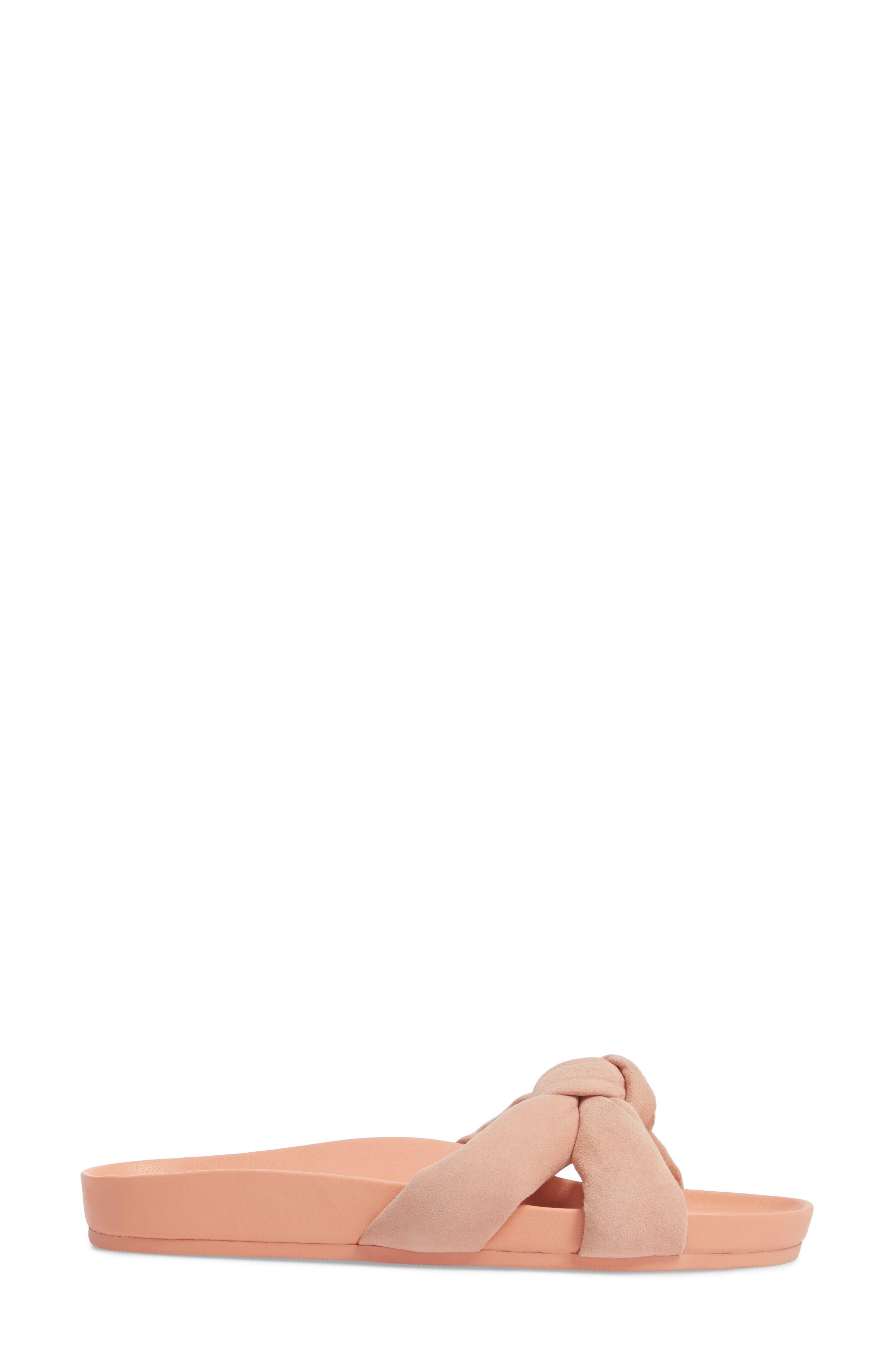 Gertie Knotted Slide Sandal,                             Alternate thumbnail 3, color,                             MELON