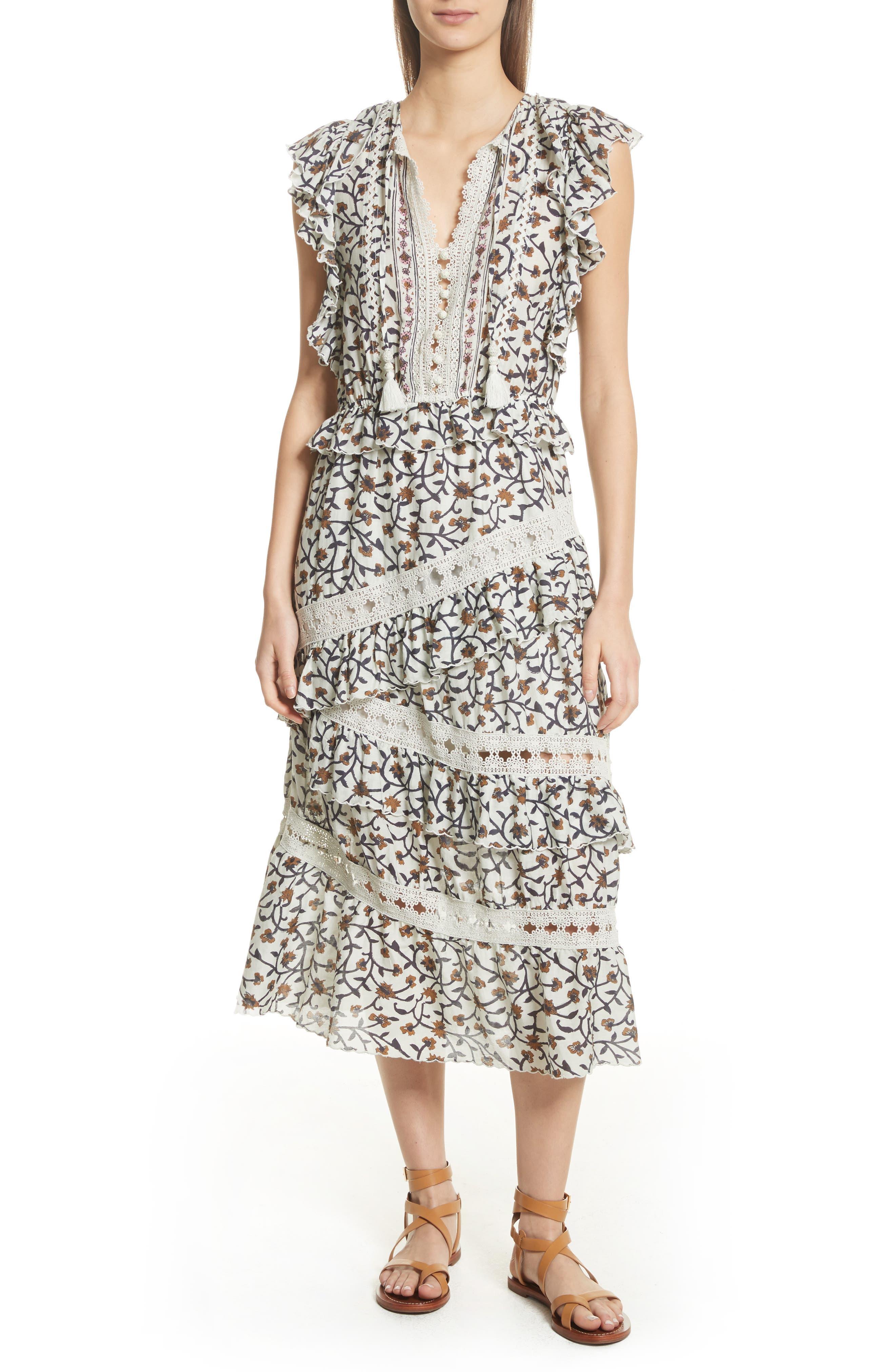 Rosalie Crochet Tier Dress,                         Main,                         color,