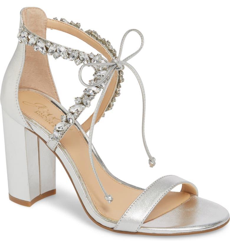 Jewel Badgley Mischka Thamar Embellished Sandal  | Nordstrom