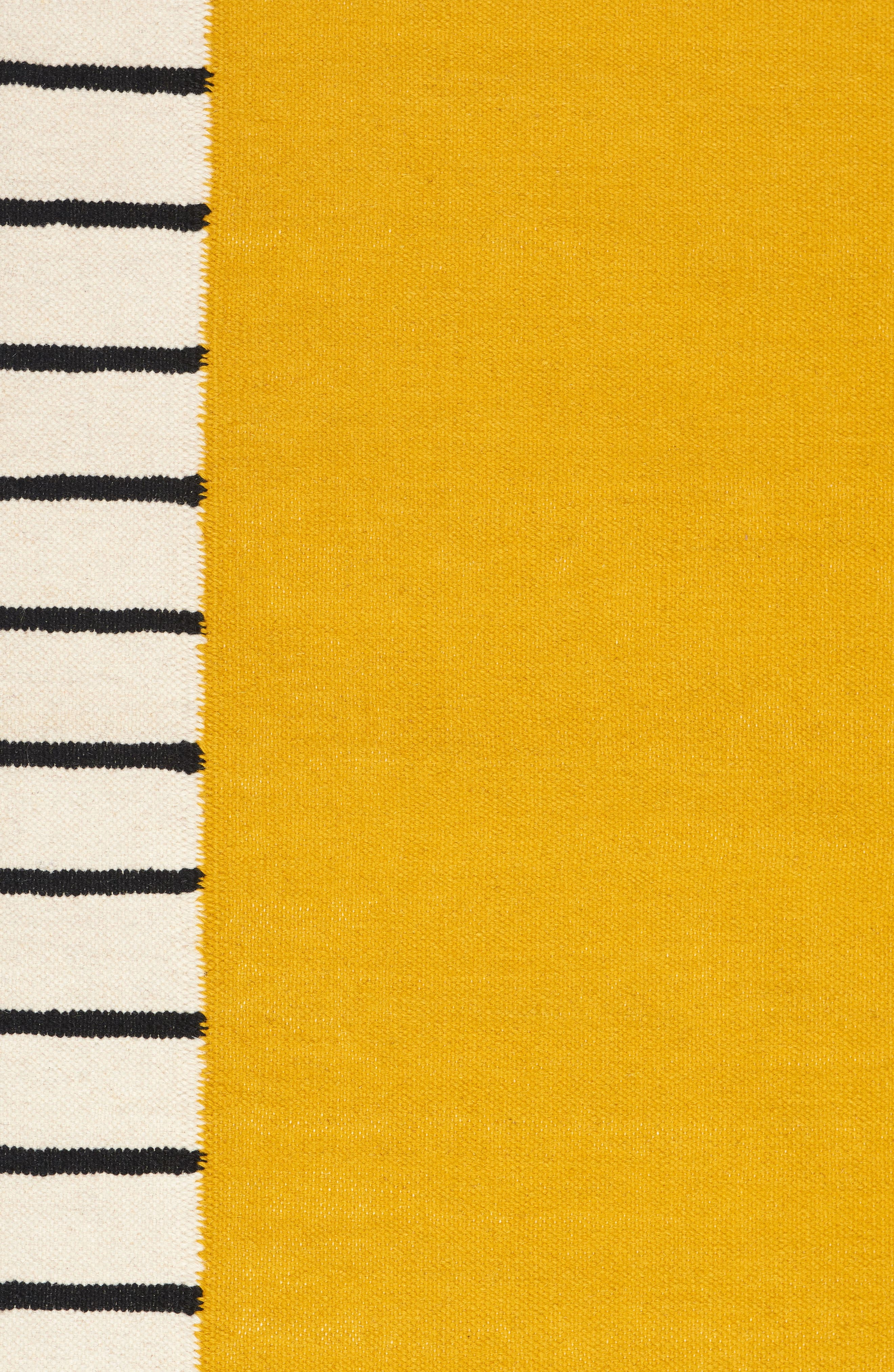 Suzanne Flat Weave Rug,                             Alternate thumbnail 3, color,                             YELLOW