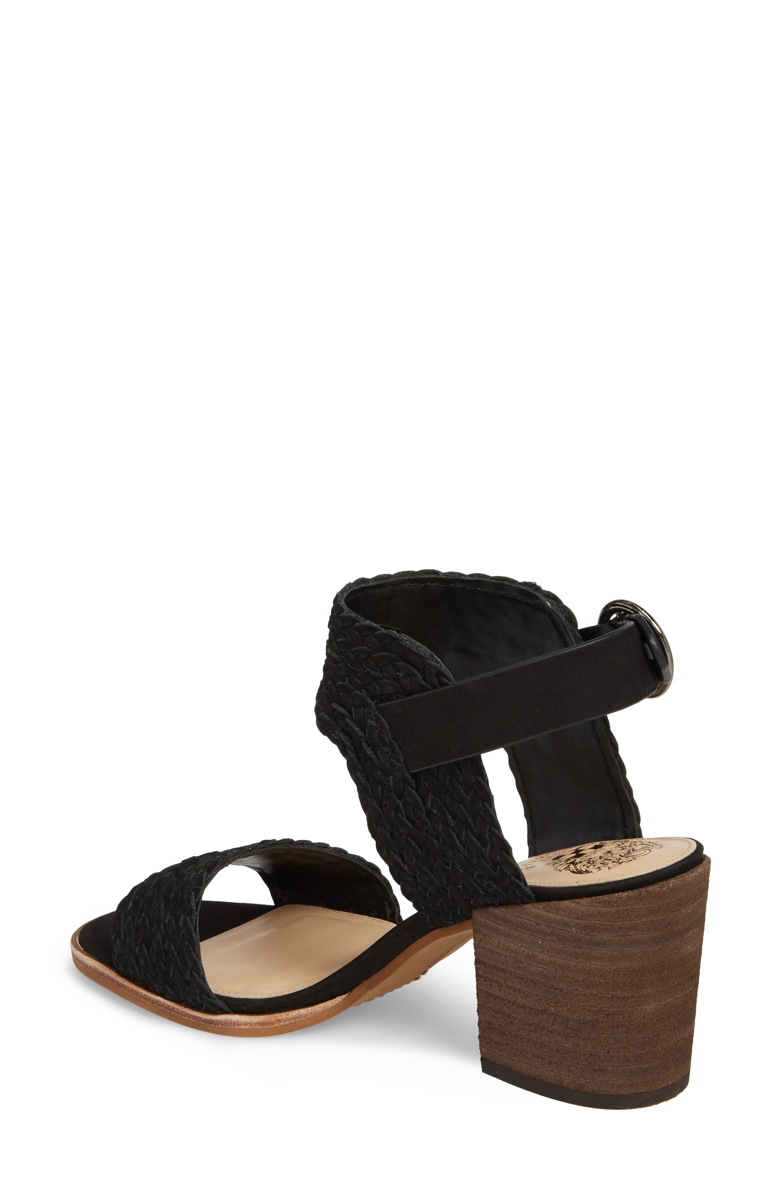 Kolema Sandal,                             Alternate thumbnail 2, color,                             BLACK LEATHER