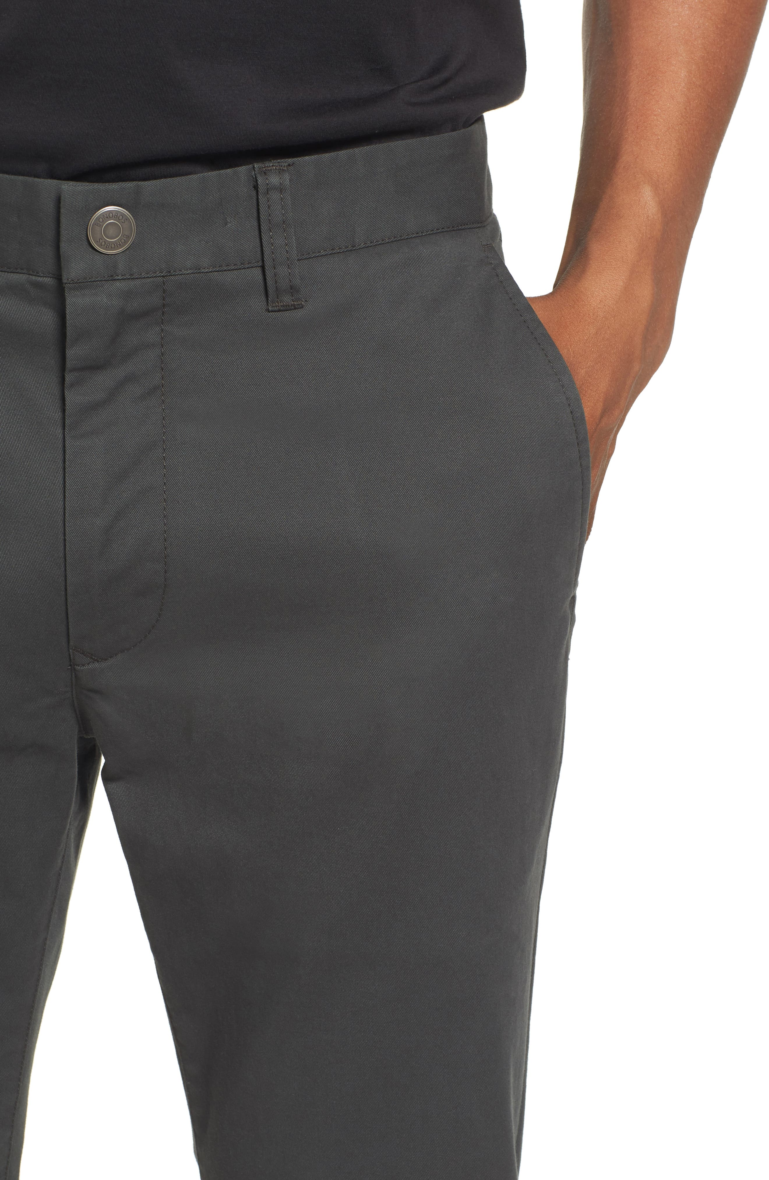 Tailored Fit Washed Stretch Cotton Chinos,                             Alternate thumbnail 114, color,