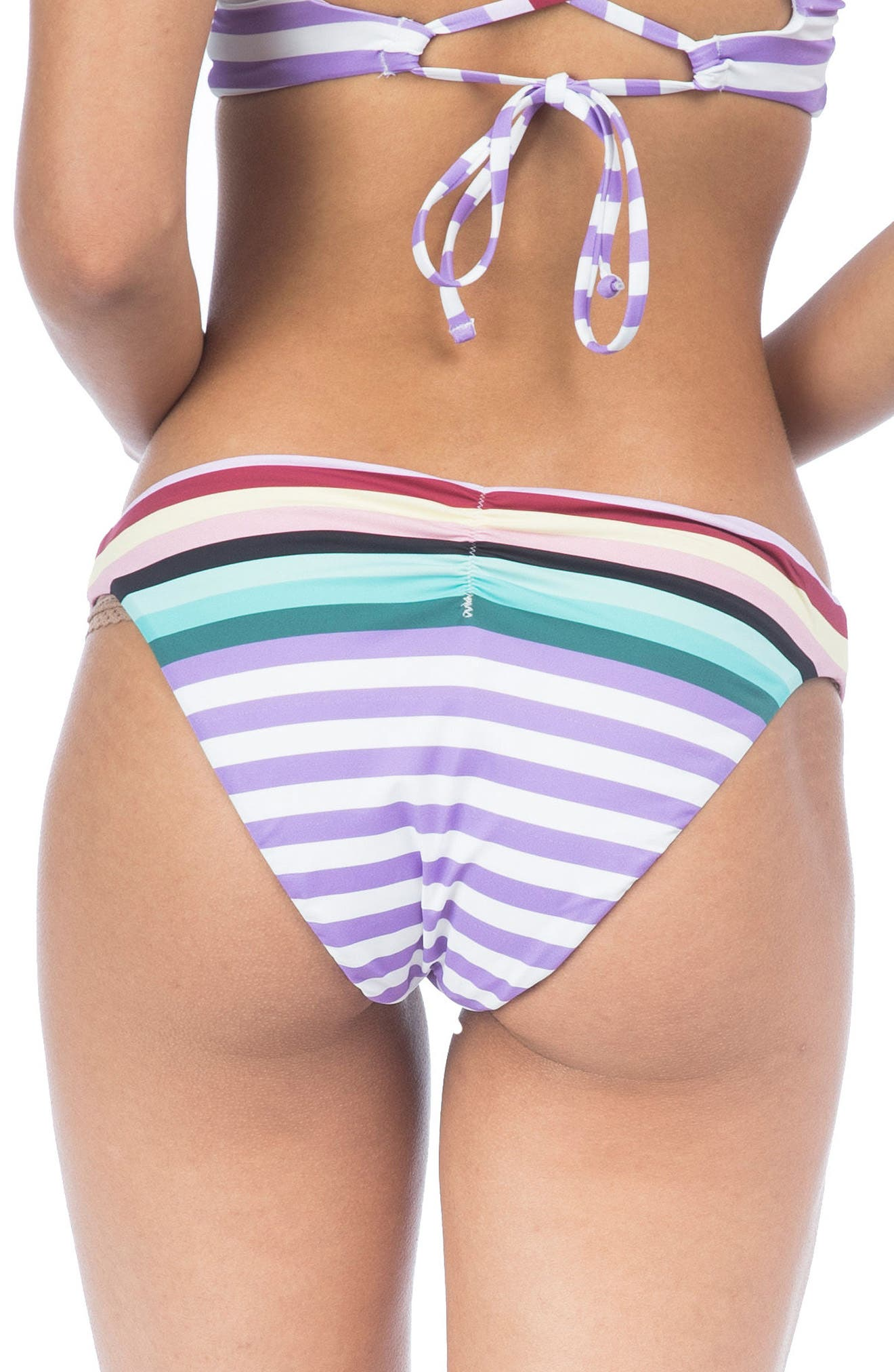 Stripeout Hipster Bikini Bottoms,                             Alternate thumbnail 2, color,                             500