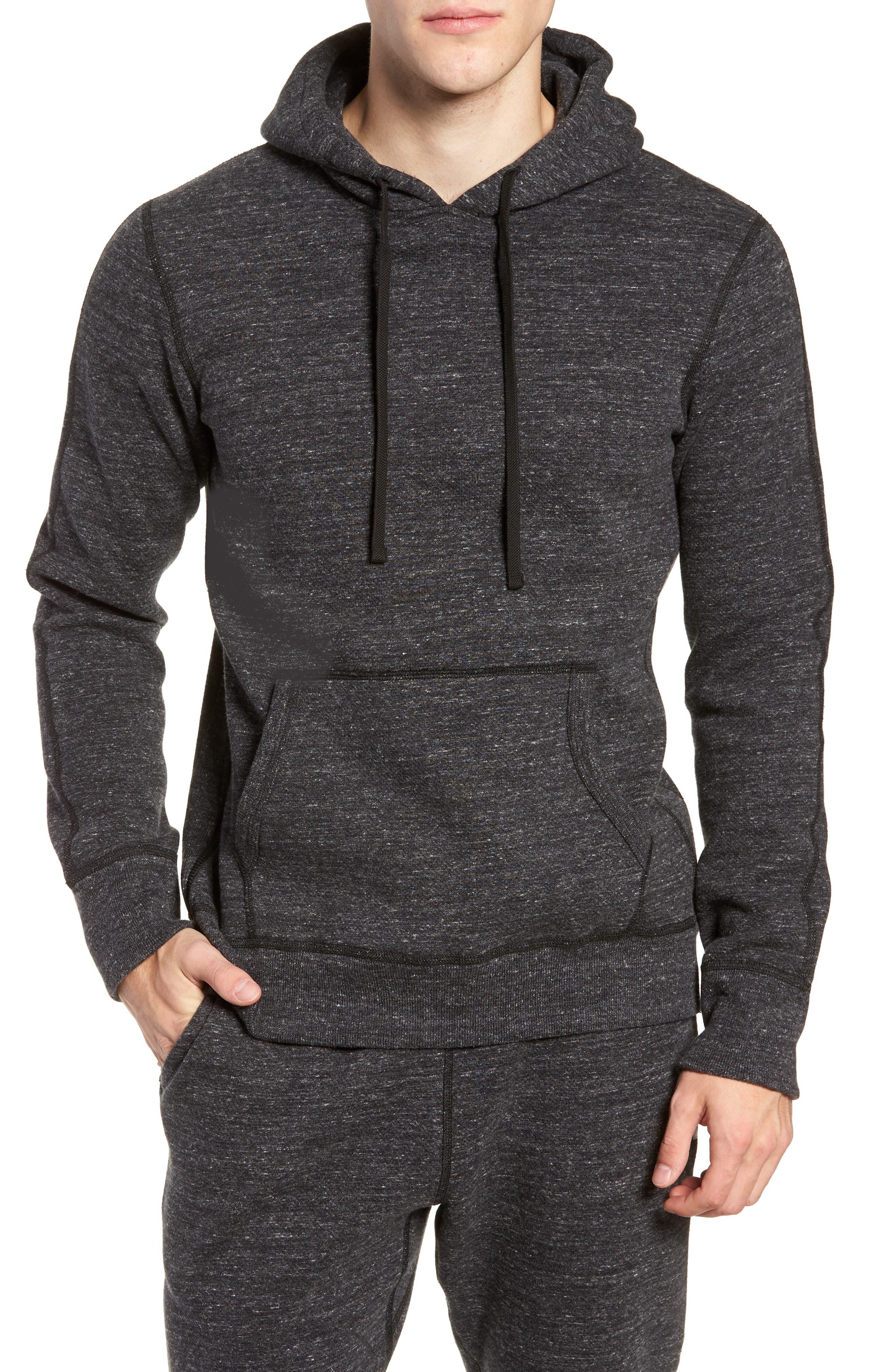 Trim Fit Side Zip Hooded Sweatshirt,                         Main,                         color, 020
