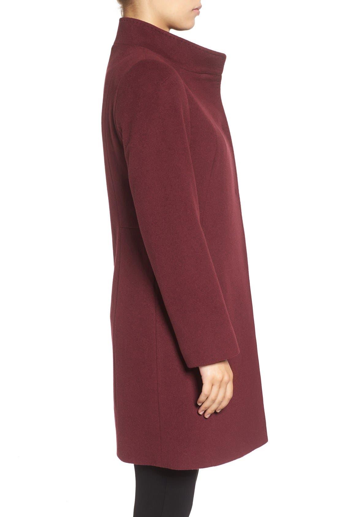 Cinzia Rocca Stand Collar Walking Coat,                             Alternate thumbnail 7, color,