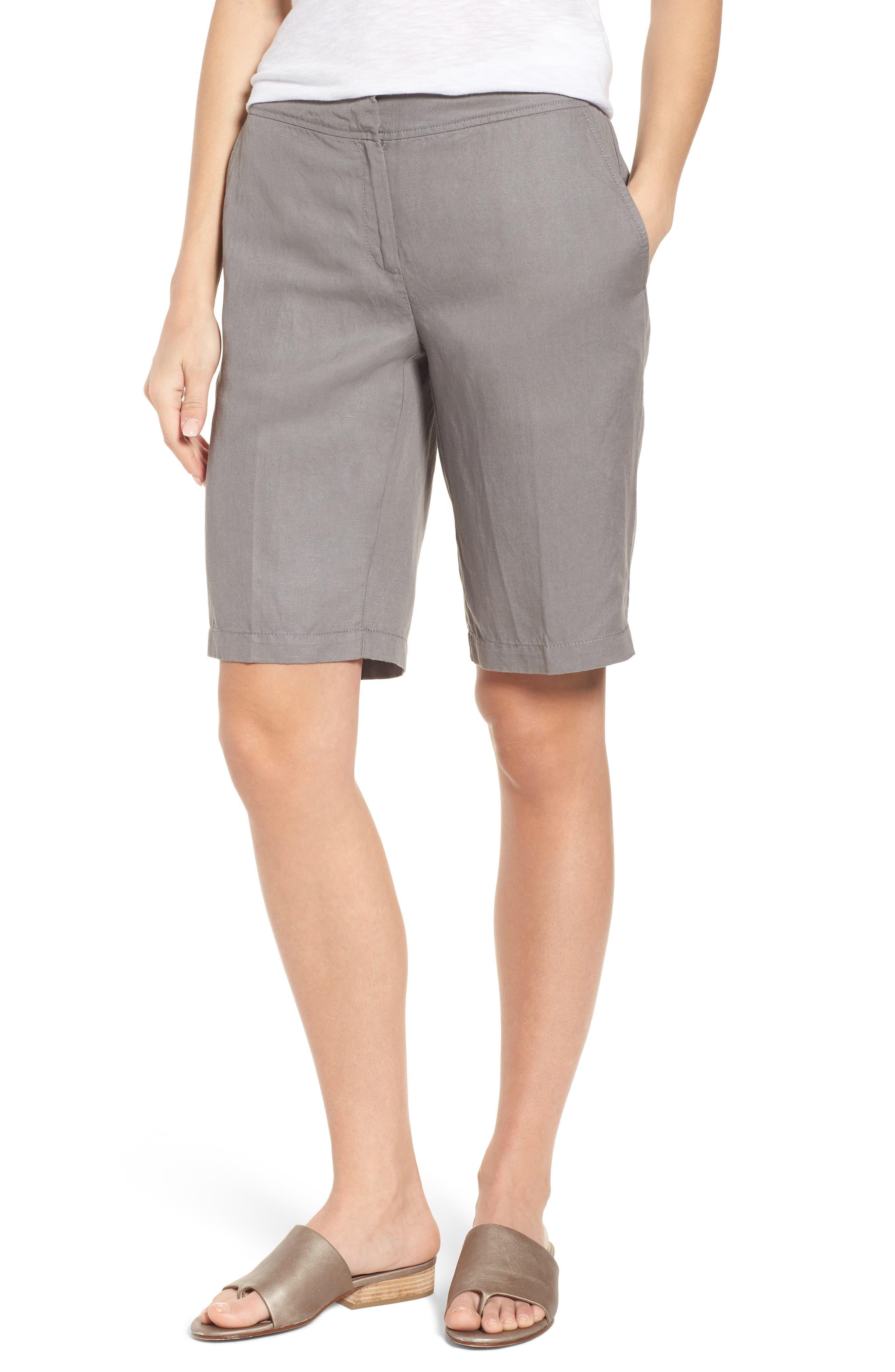 Tencel<sup>®</sup> Lyocell & Linen Walking Shorts,                             Main thumbnail 2, color,