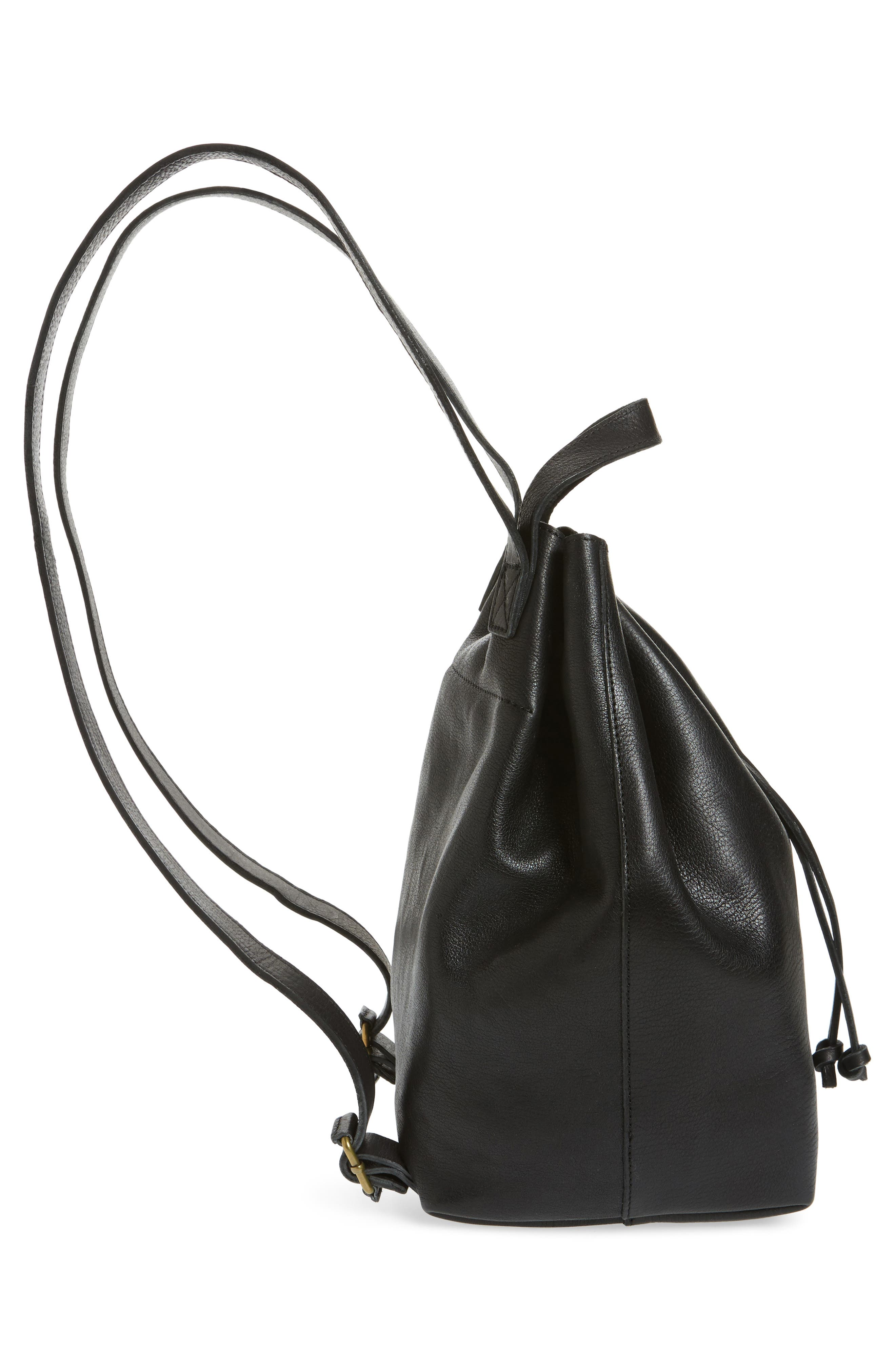 Somerset Leather Backpack,                             Alternate thumbnail 5, color,                             001
