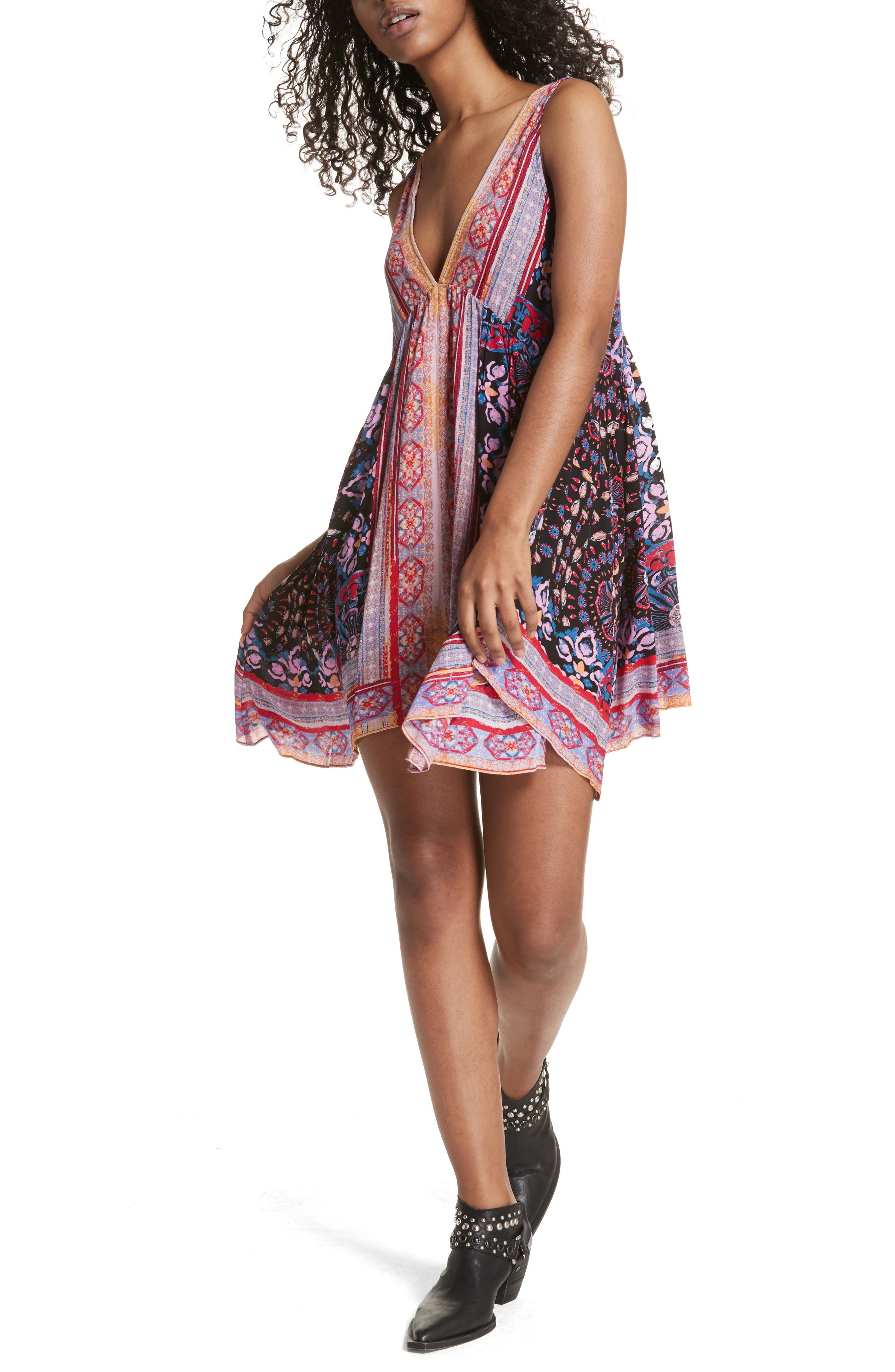Gypsy Trapeze Slipdress,                             Alternate thumbnail 6, color,                             001