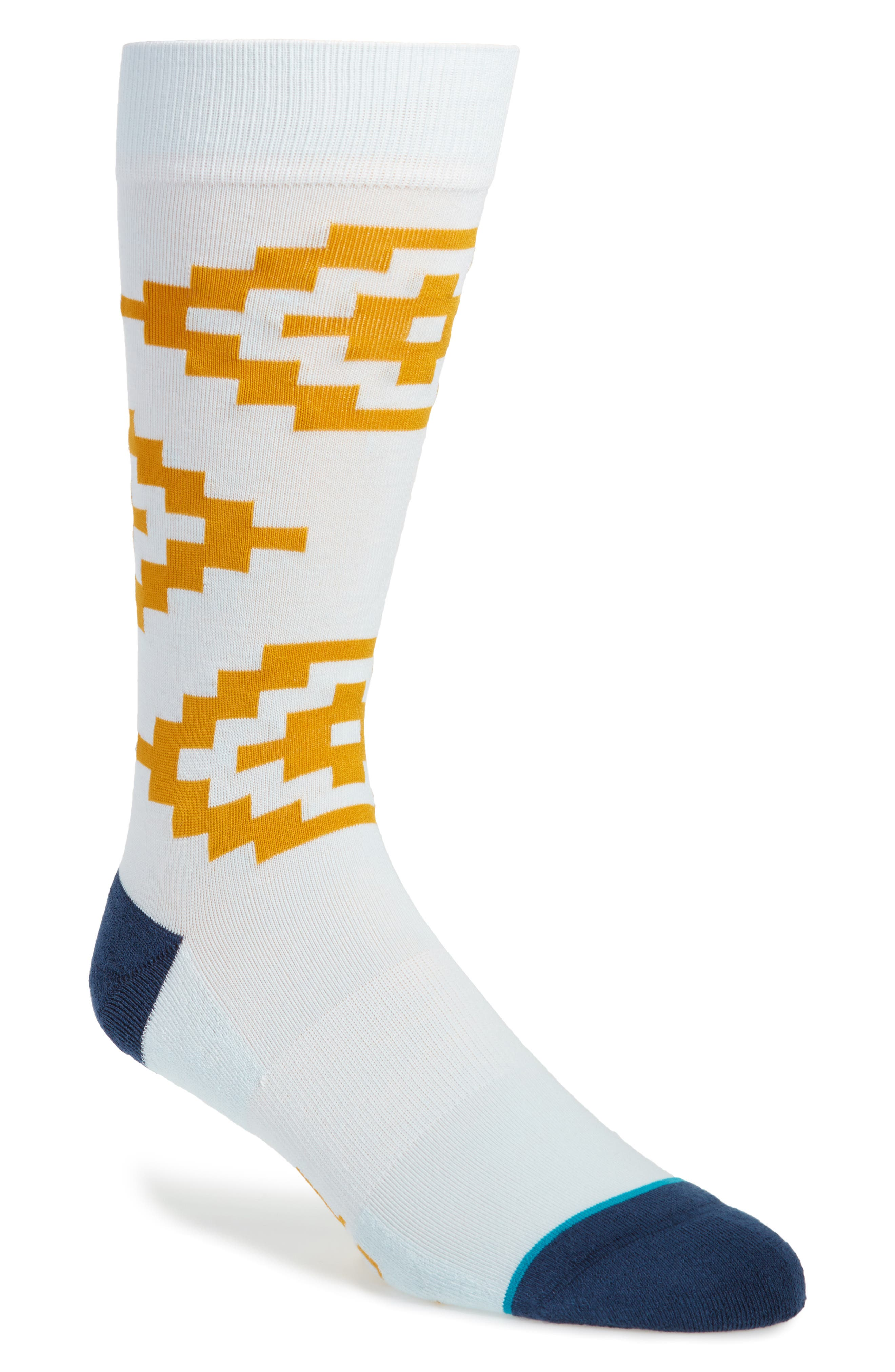 Cairns Crew Socks,                         Main,                         color, BLUE