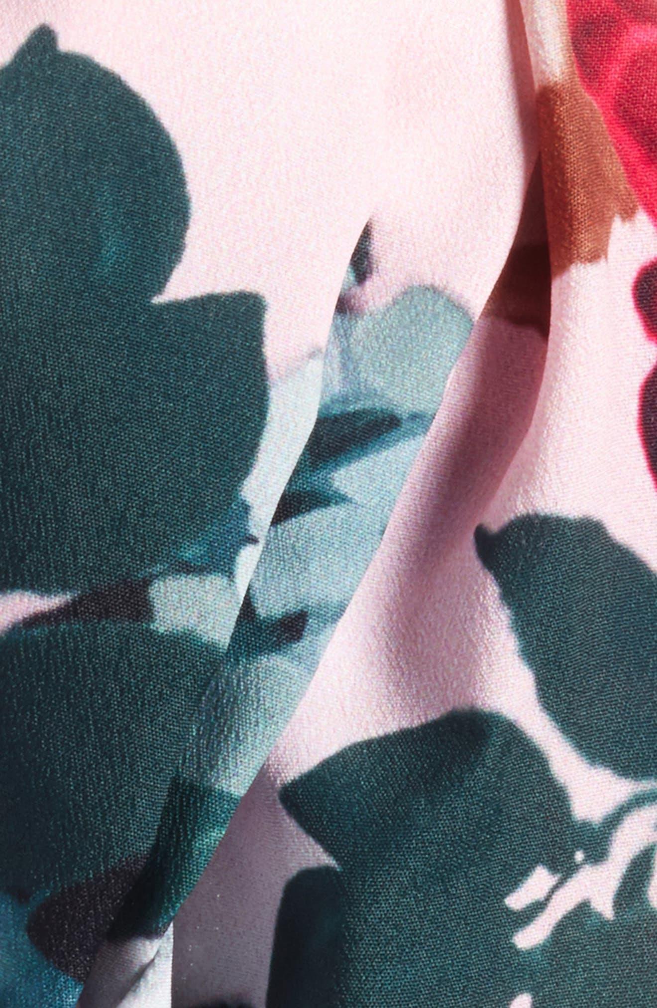 Flower Print Knot Head Wrap,                             Alternate thumbnail 8, color,