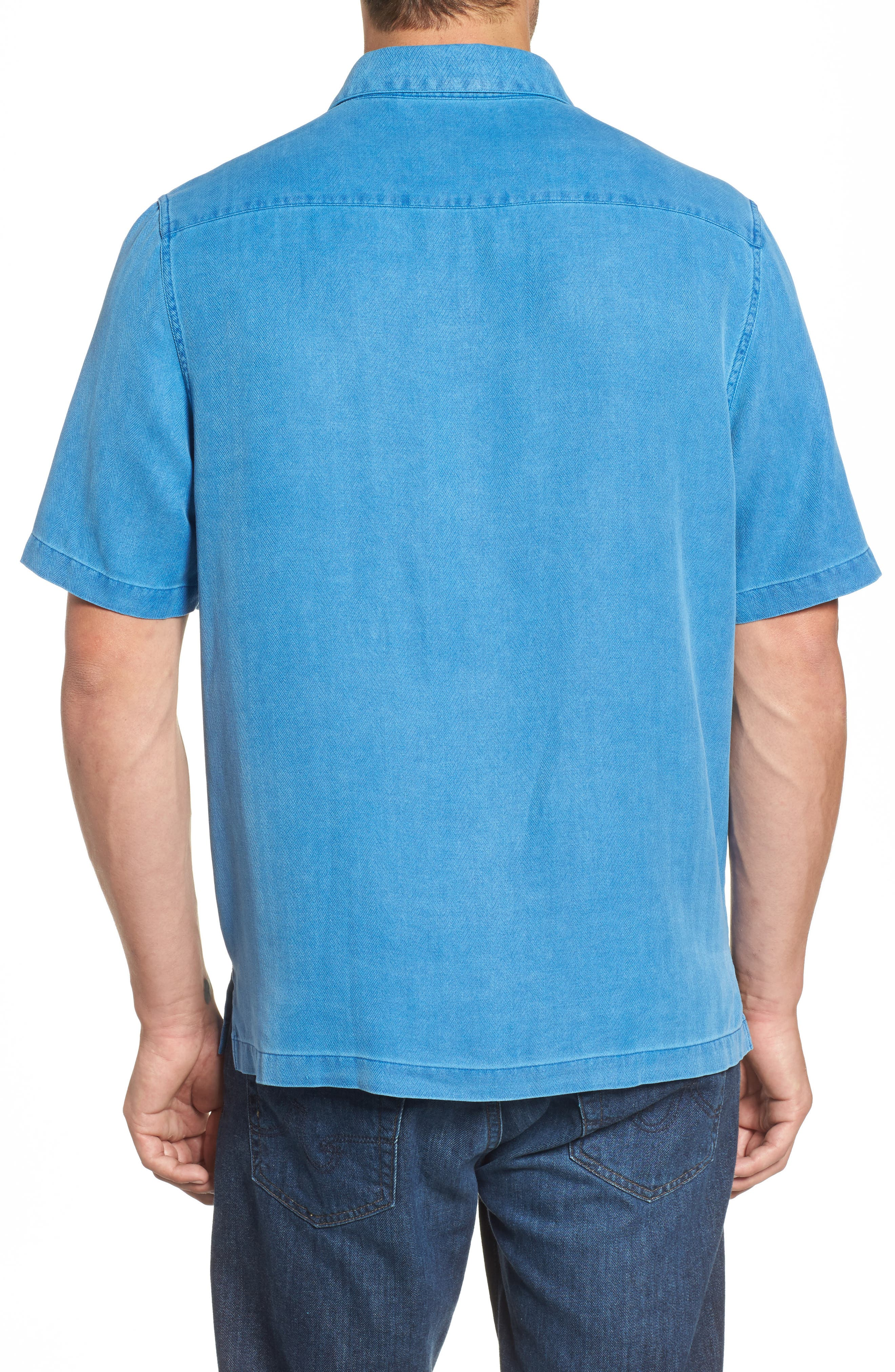 With a Twist Silk Blend Camp Shirt,                             Alternate thumbnail 7, color,