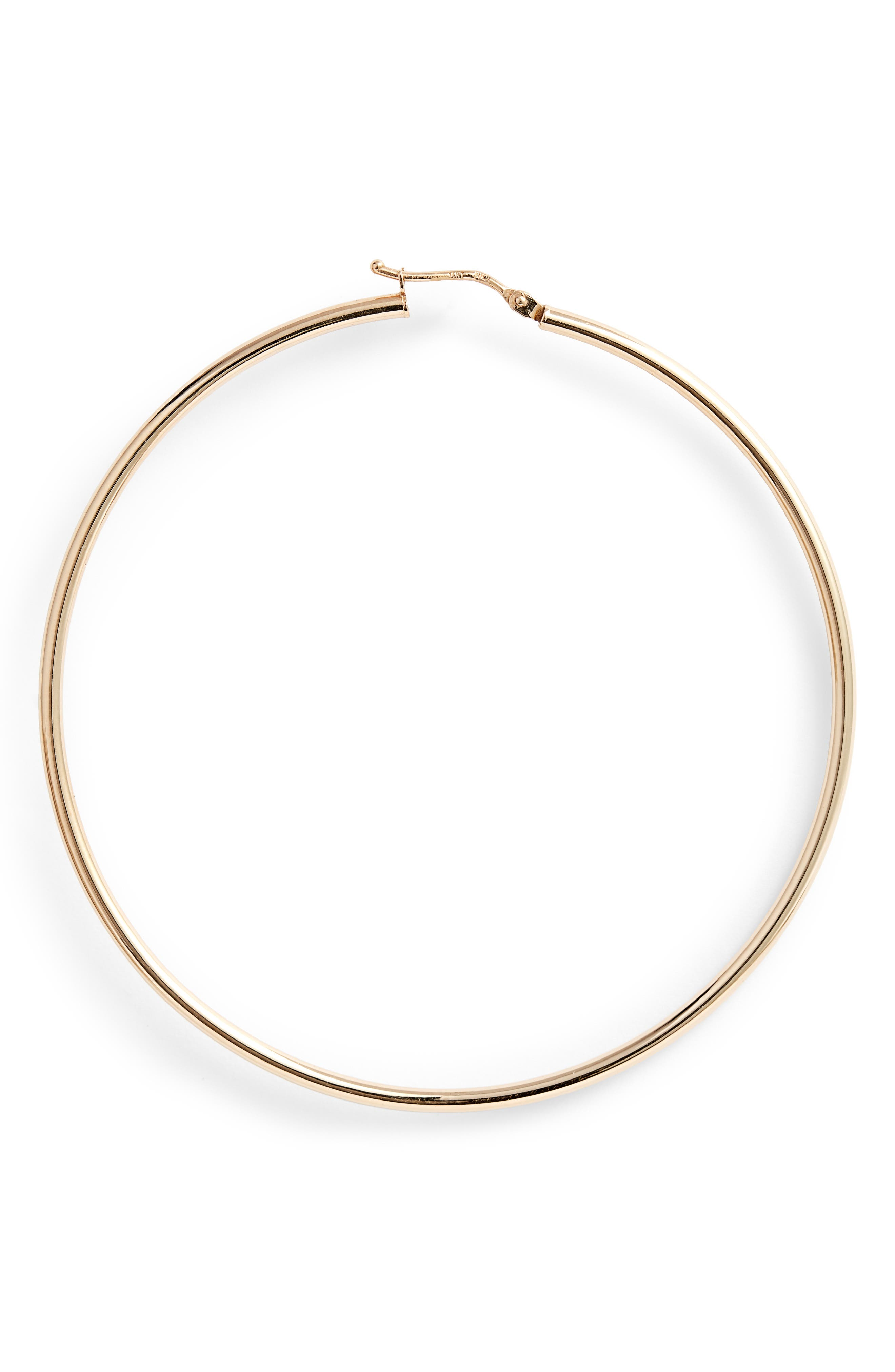 BONY LEVY,                             Extra Large Gold Hoop Earrings,                             Alternate thumbnail 4, color,                             YELLOW GOLD