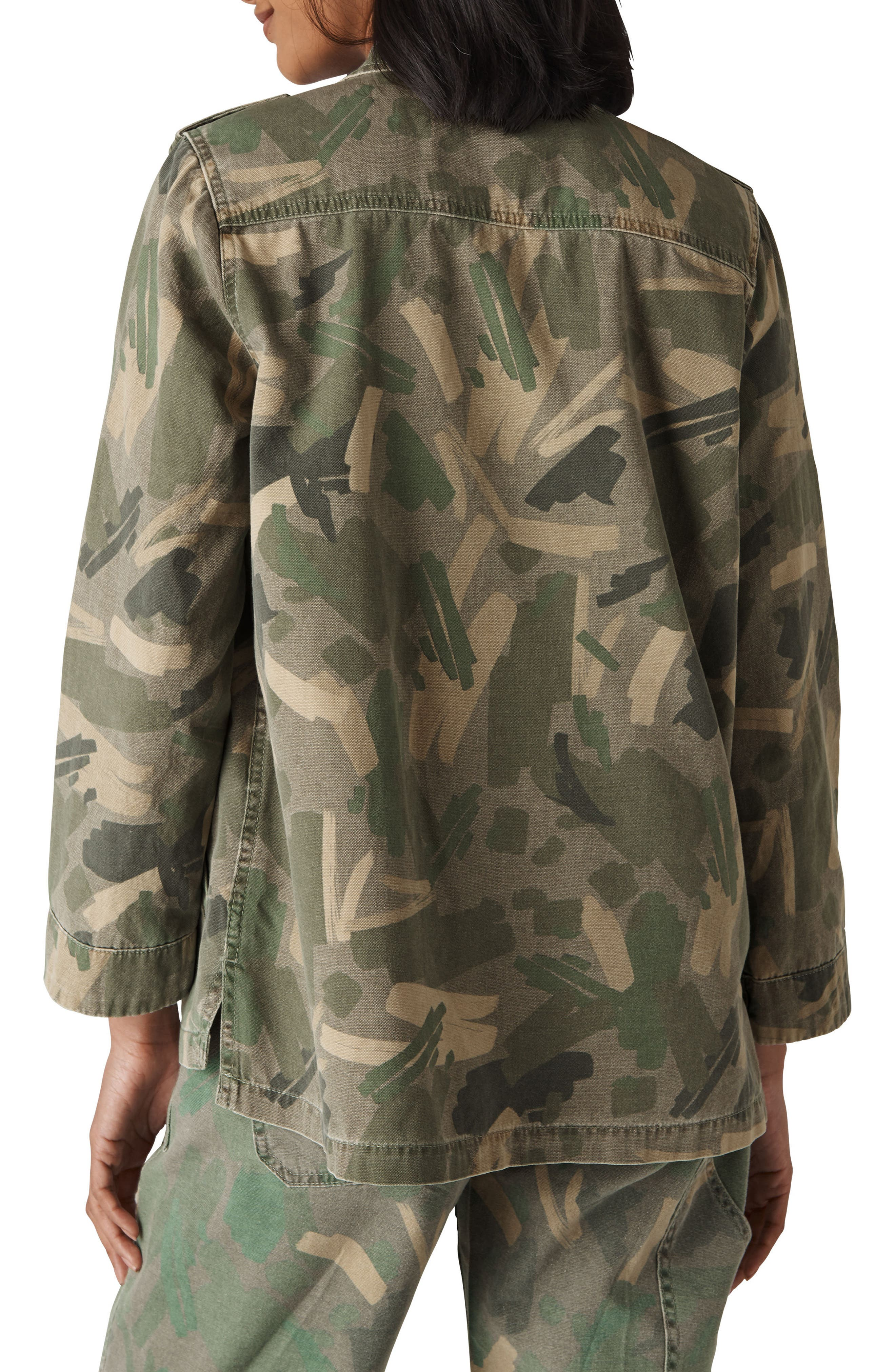 Longline Camo Utility Jacket,                             Alternate thumbnail 2, color,