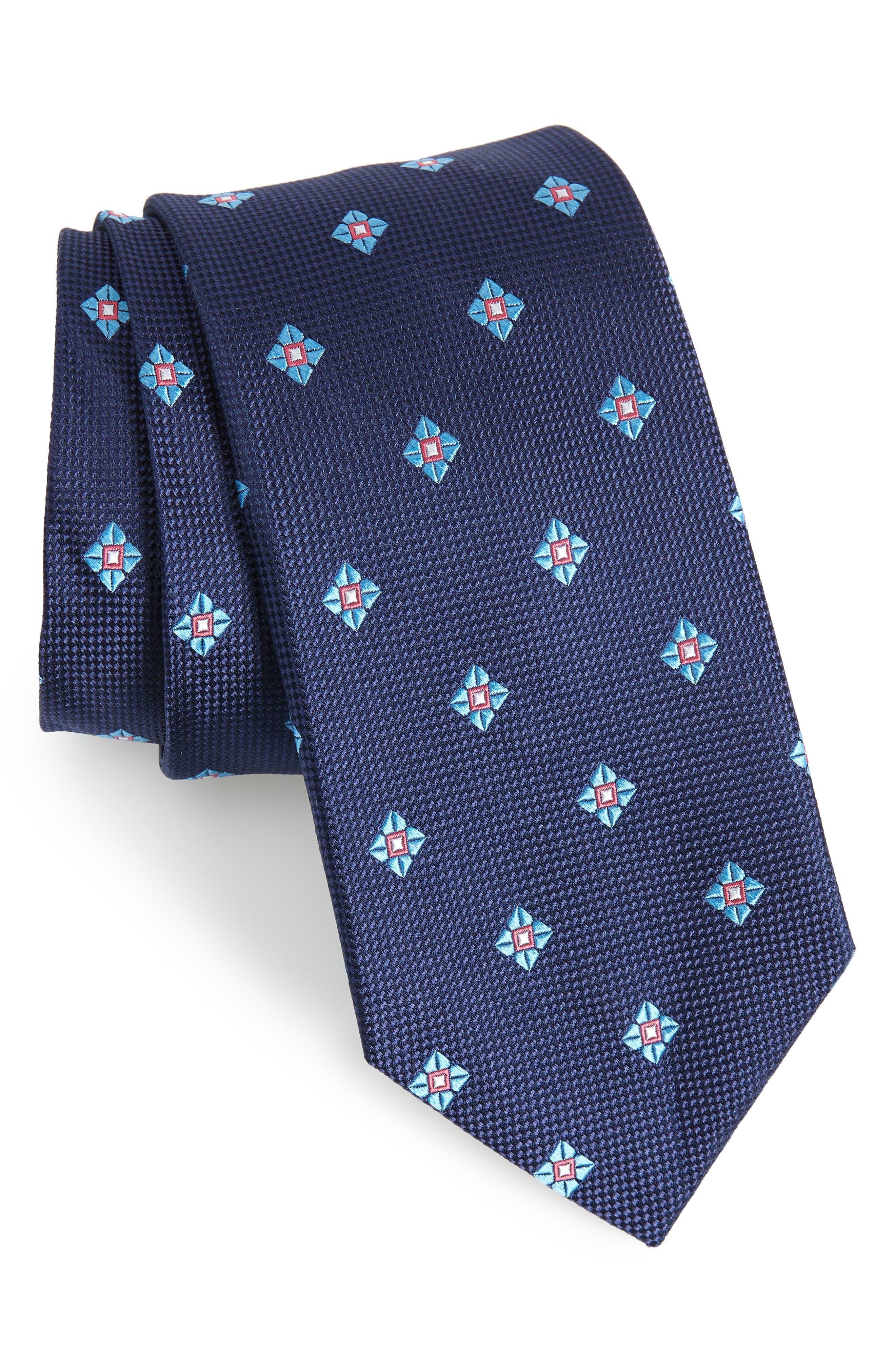Oxford Neat Silk Tie,                             Main thumbnail 1, color,                             410