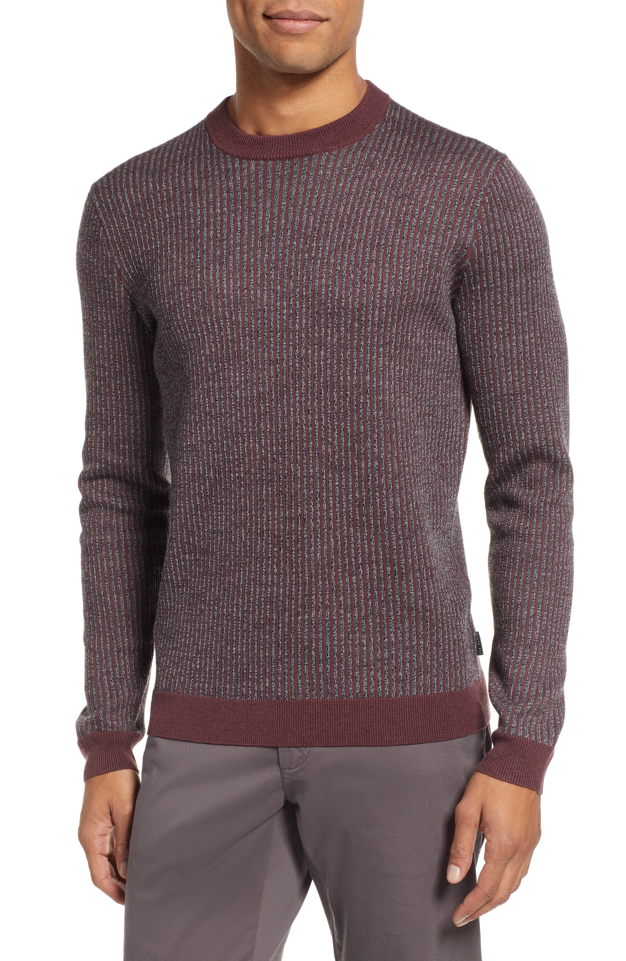 Jinxitt Crewneck Sweater,                         Main,                         color, DEEP-PINK