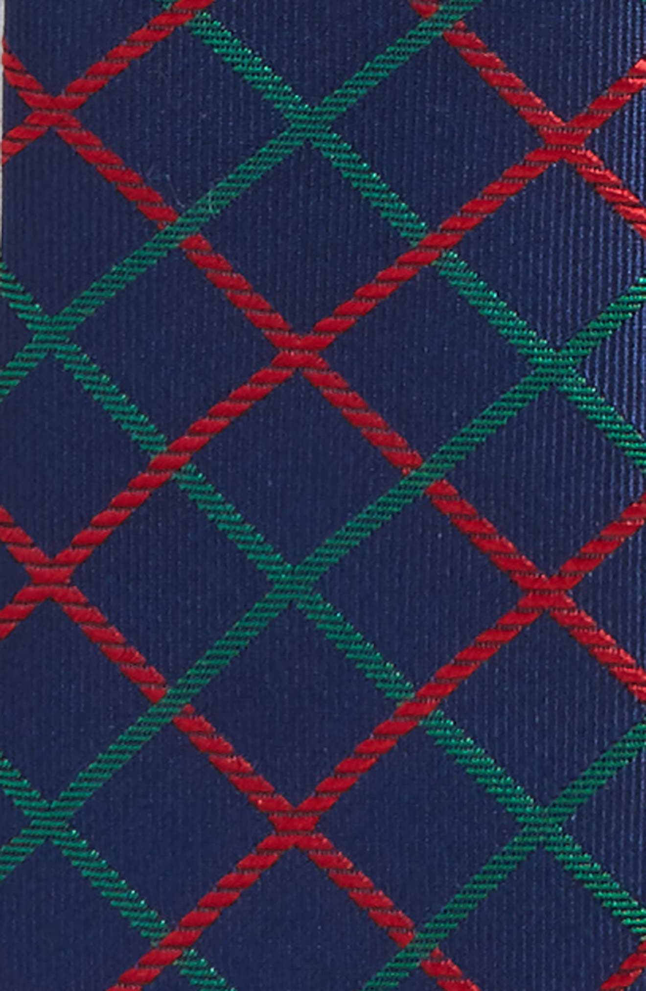 Plaid Silk Zip Tie,                             Alternate thumbnail 11, color,