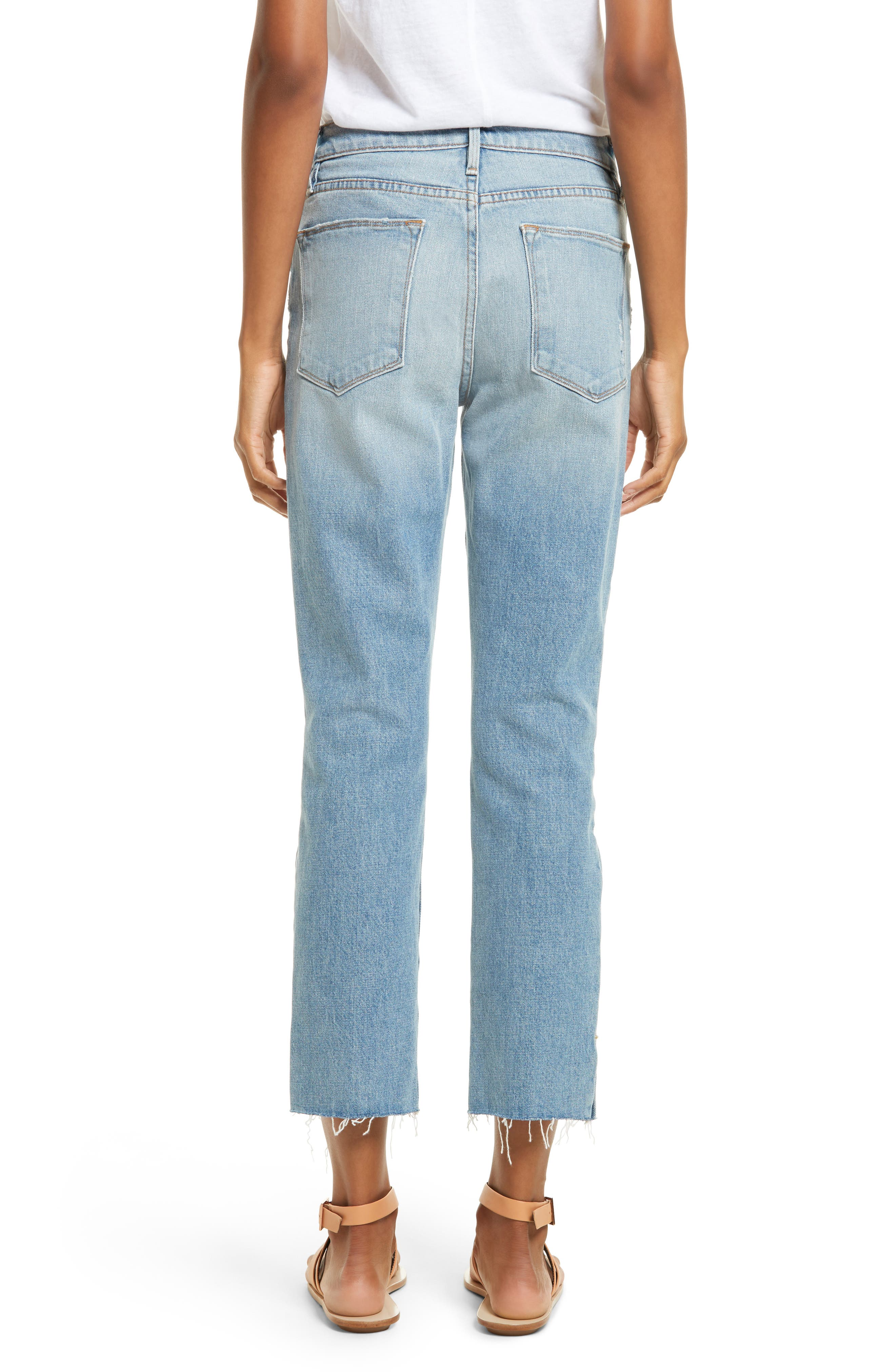 Le High Crop Straight Jeans,                             Alternate thumbnail 2, color,                             450