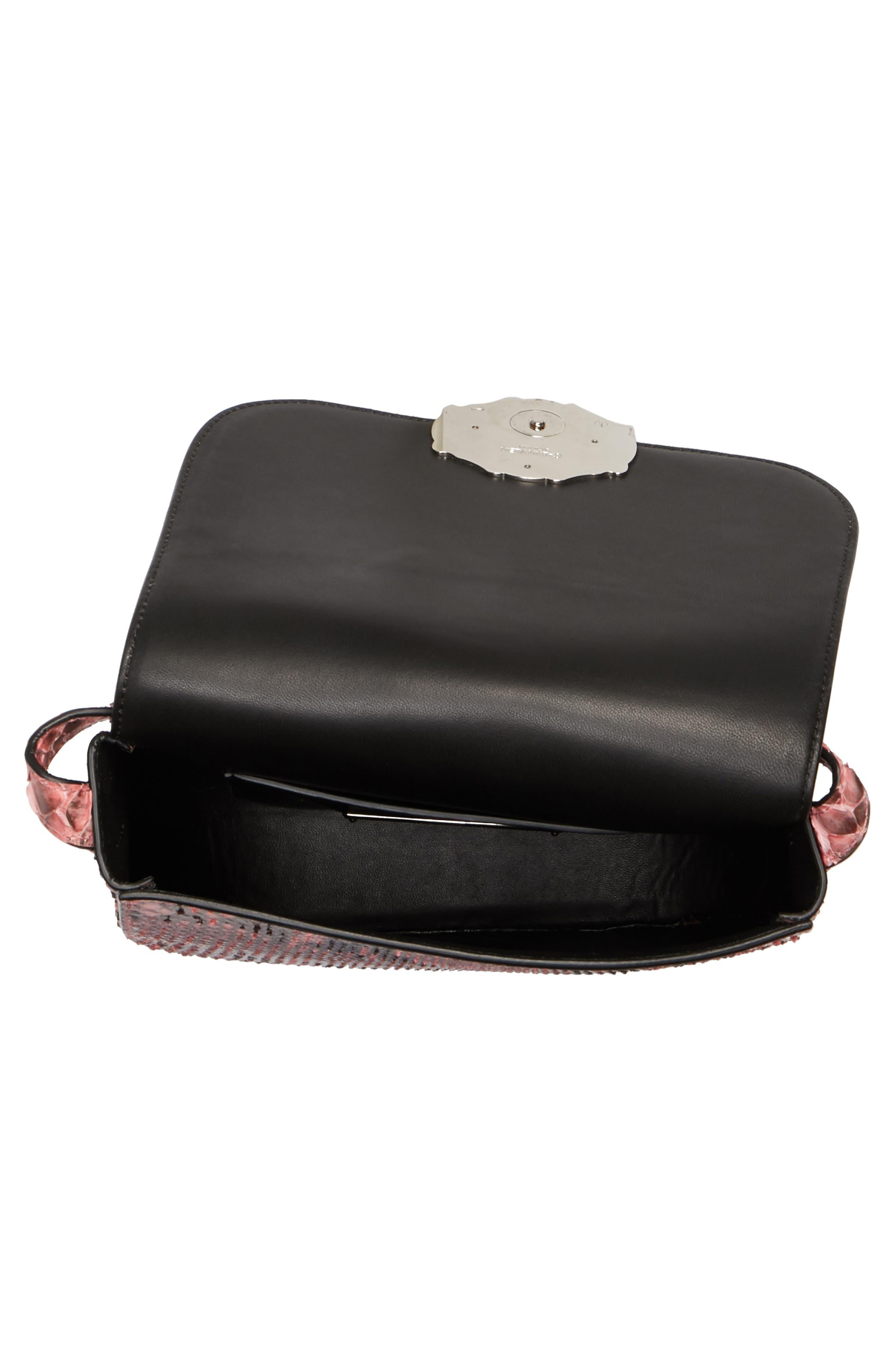 Calvin Klein 205W395NYC Genuine Python Shoulder Bag,                             Alternate thumbnail 4, color,