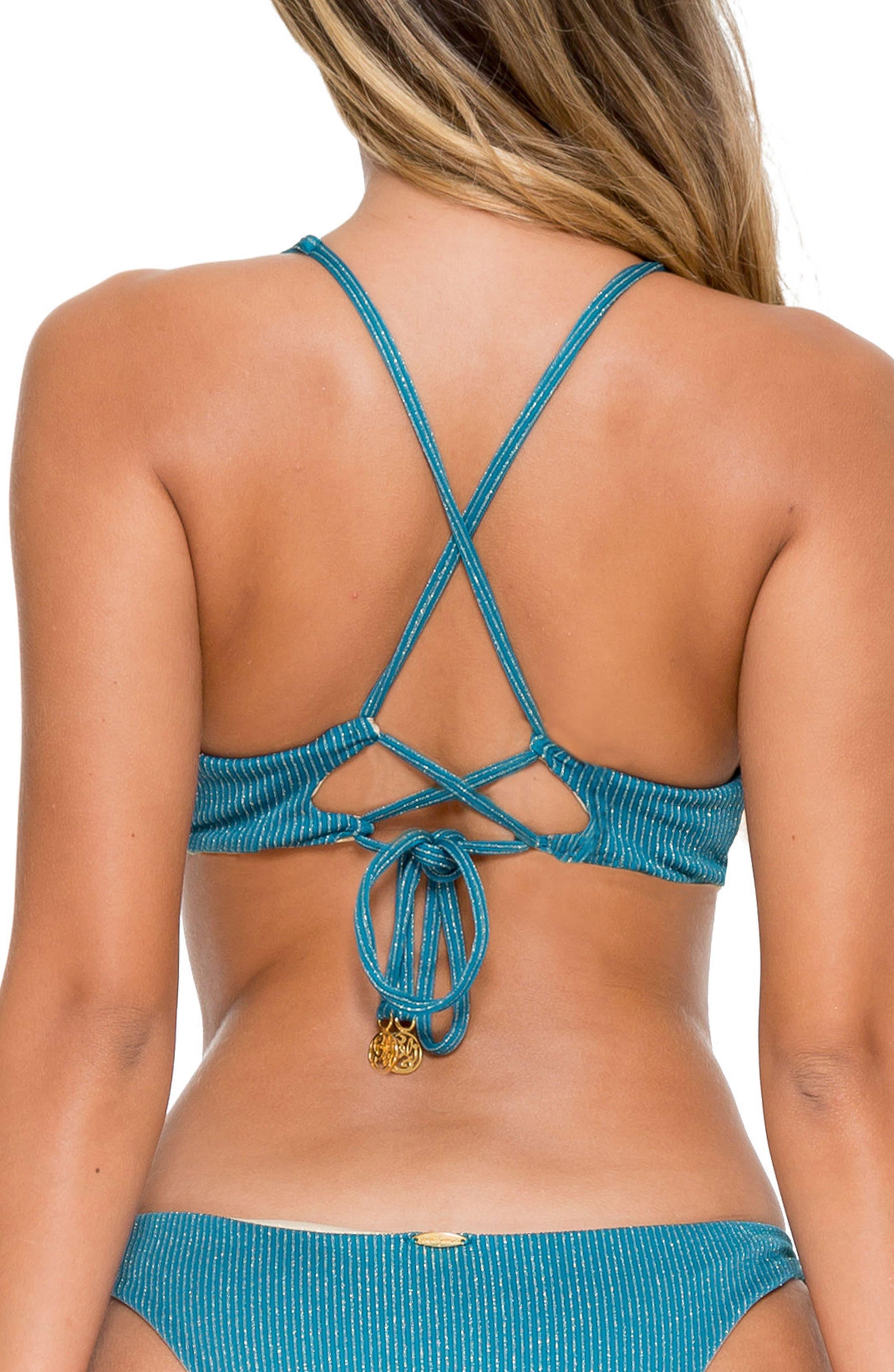 Esmeralda Reversible Bikini Top,                             Alternate thumbnail 3, color,                             492