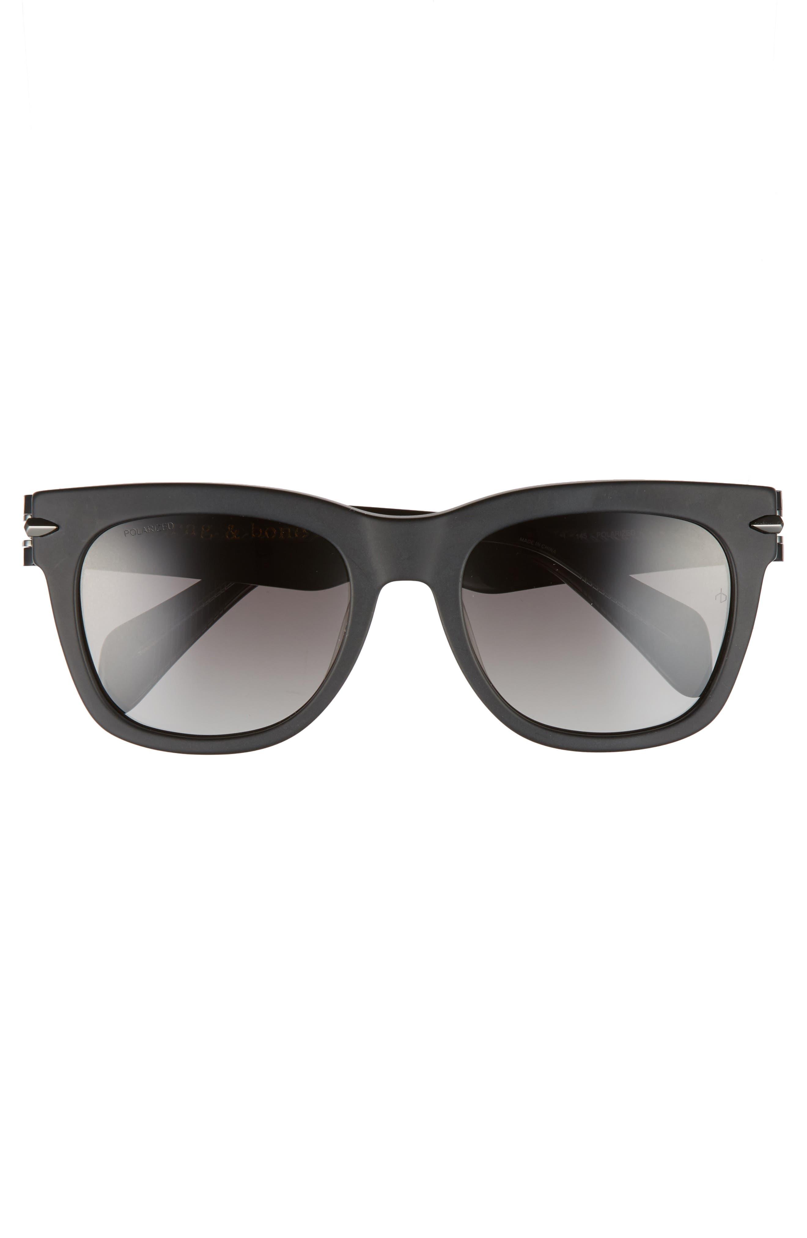 54mm Polarized Sunglasses,                             Alternate thumbnail 2, color,                             MATTE BLACK/ POLAR